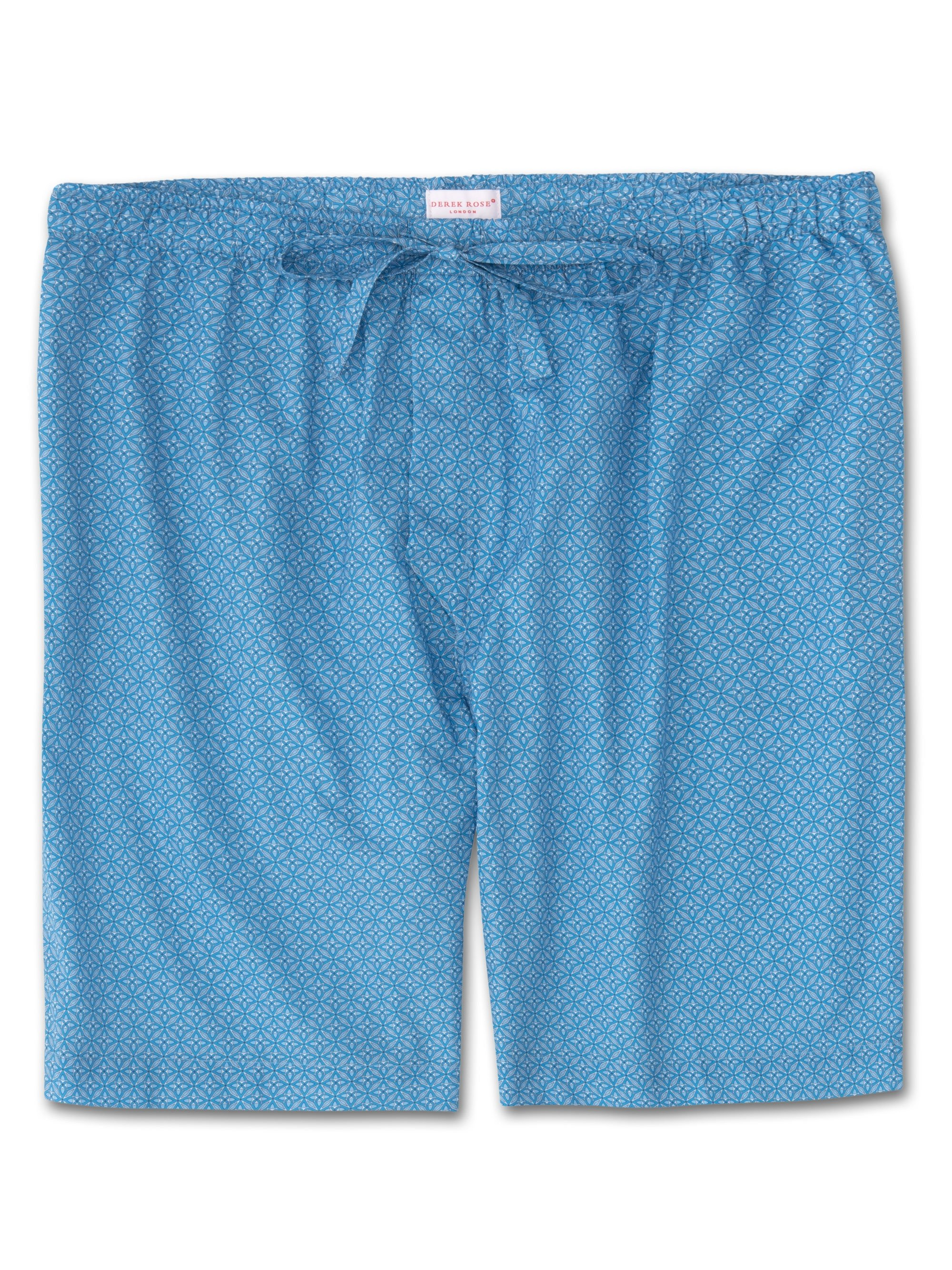 Men's Lounge Shorts Ledbury 21 Cotton Batiste Blue