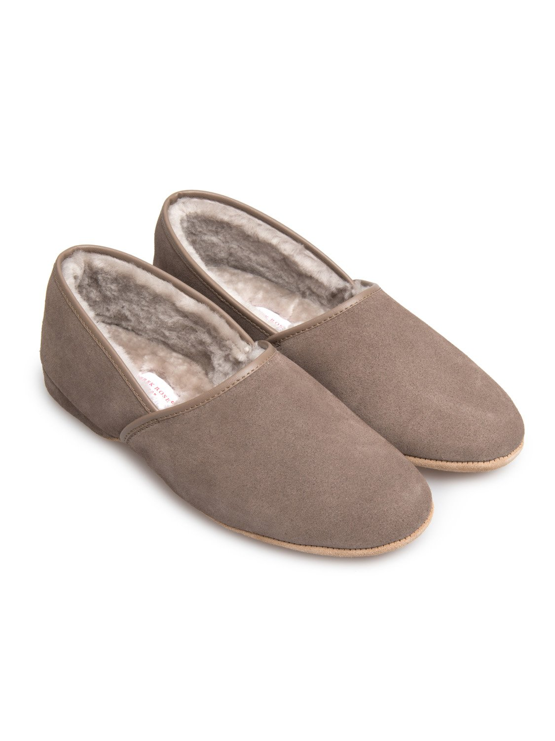 Men's Closed-Back Slipper Crawford Suede Sheepskin Beige