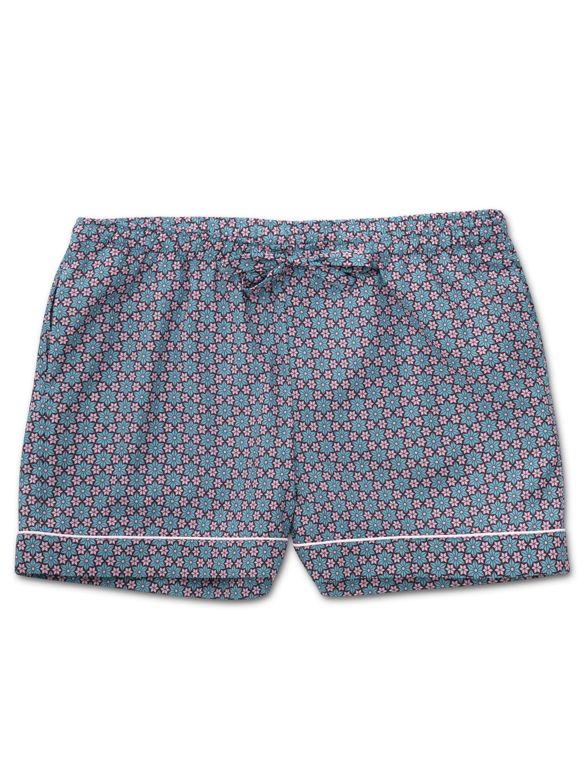 Women's Lounge Shorts Ledbury 37 Cotton Batiste Multi