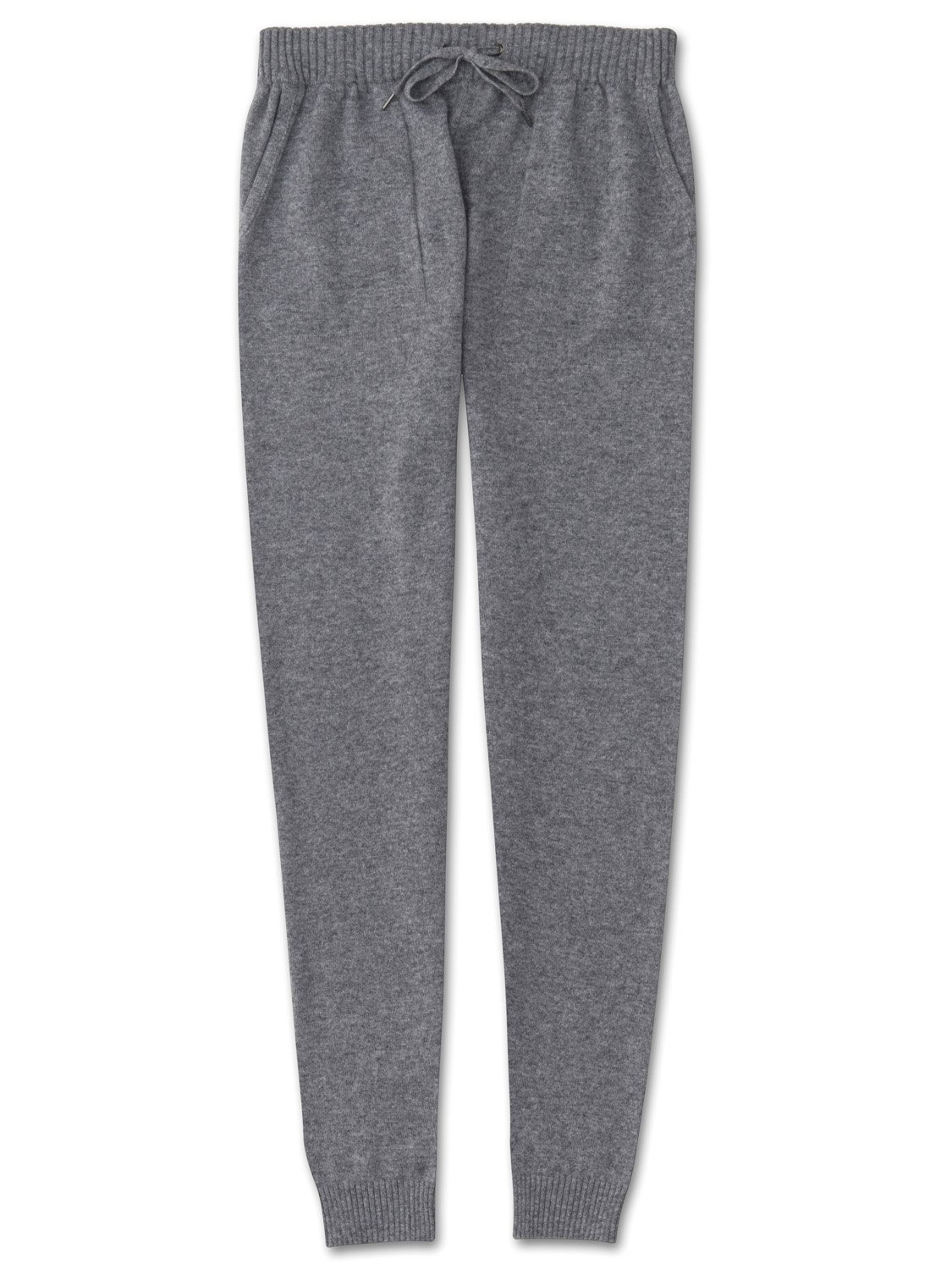 Women's Cashmere Track Pants Finley Pure Cashmere Silver