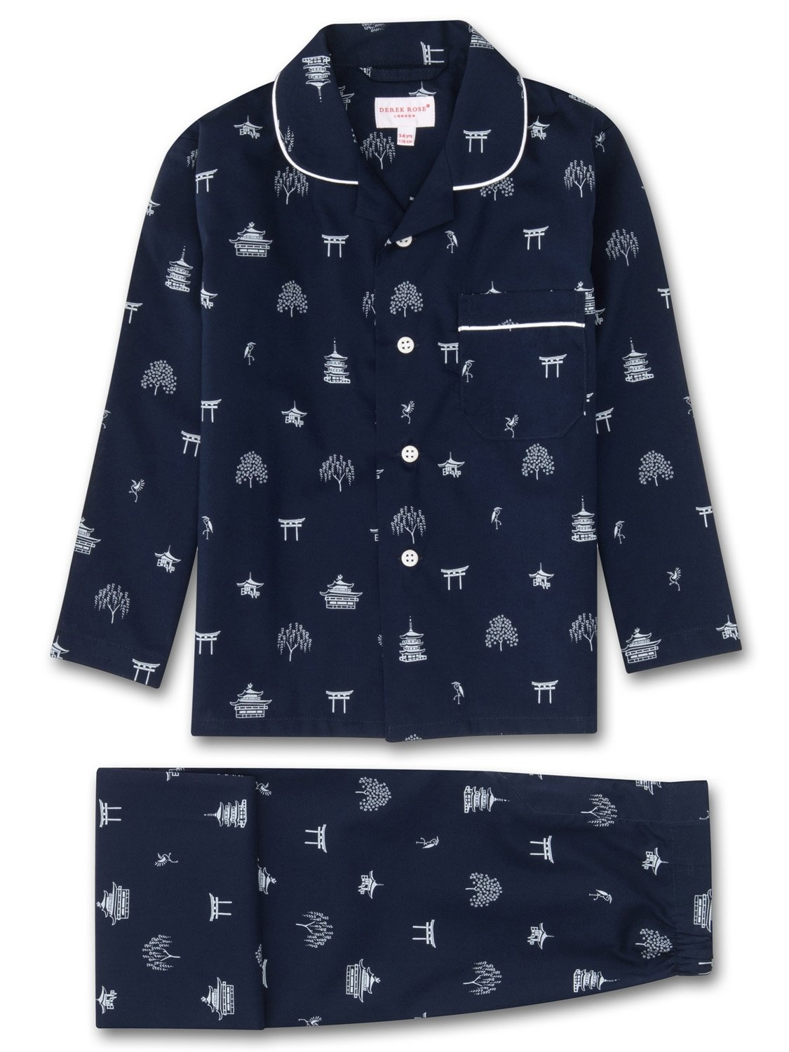Kids' Pyjamas Nelson 65 Cotton Batiste Navy