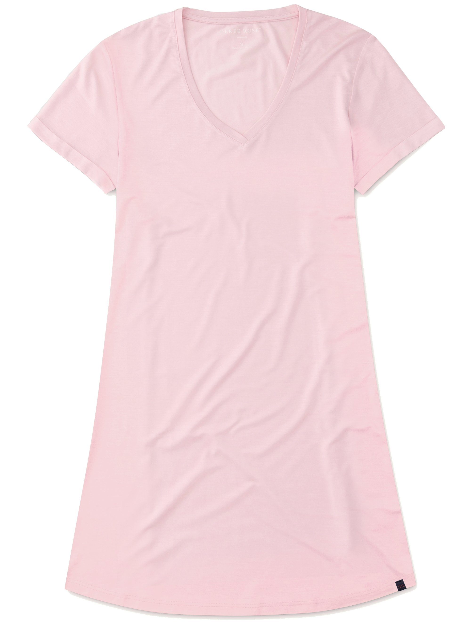 Women's V-Neck Sleep T-Shirt Lara Micro Modal Stretch Pink