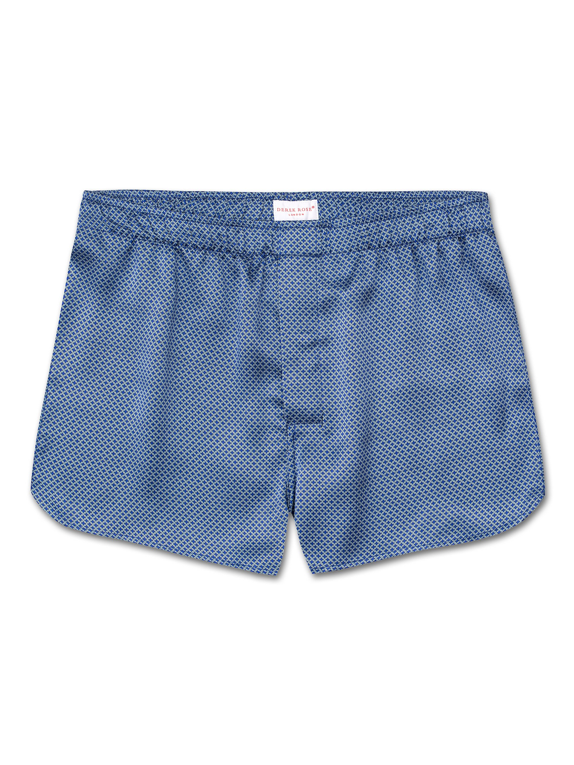 Men's Modern Fit Boxer Shorts Brindisi 4 Pure Silk Ice