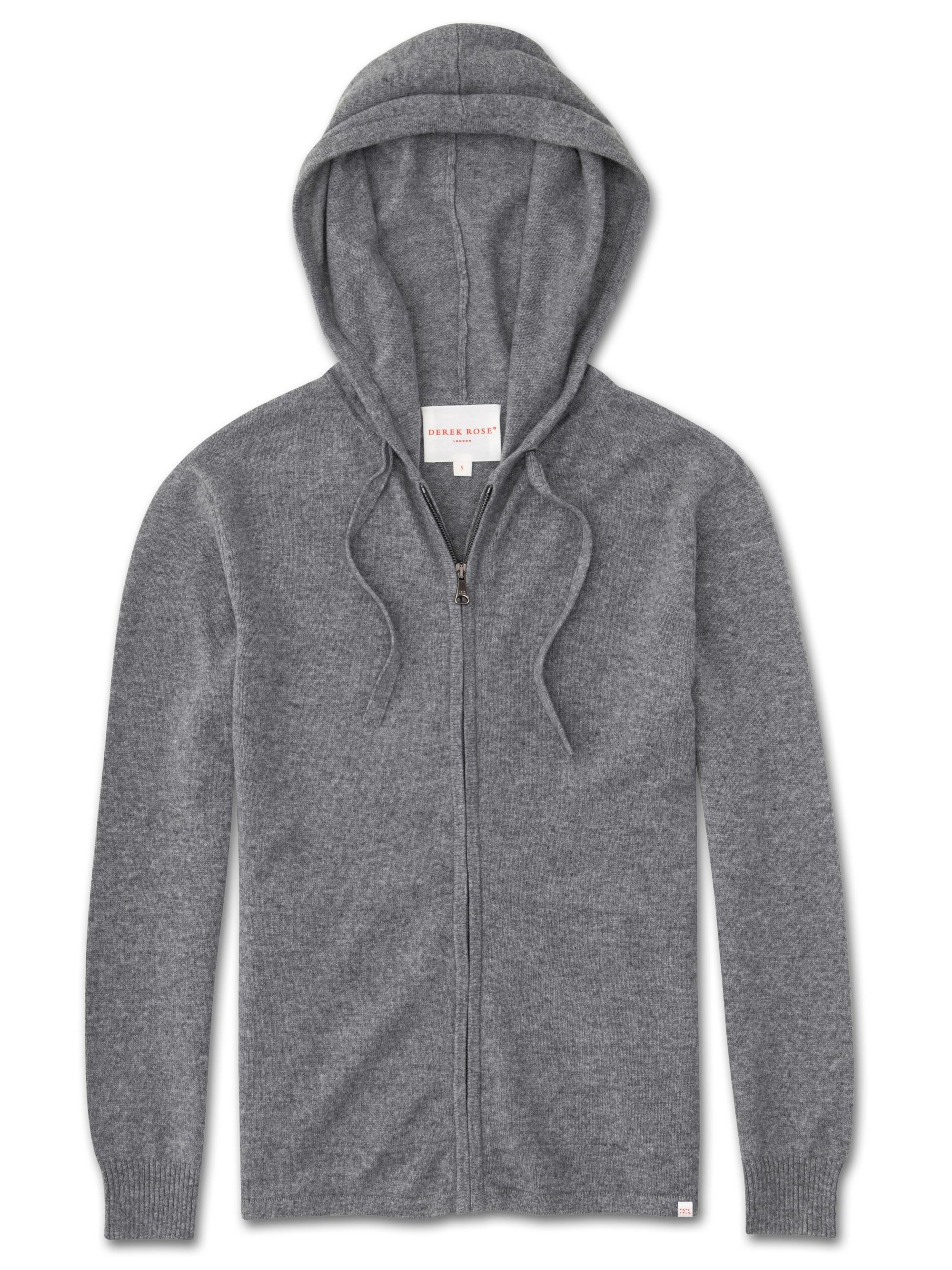 Women's Cashmere Hoodie Finley Pure Cashmere Silver