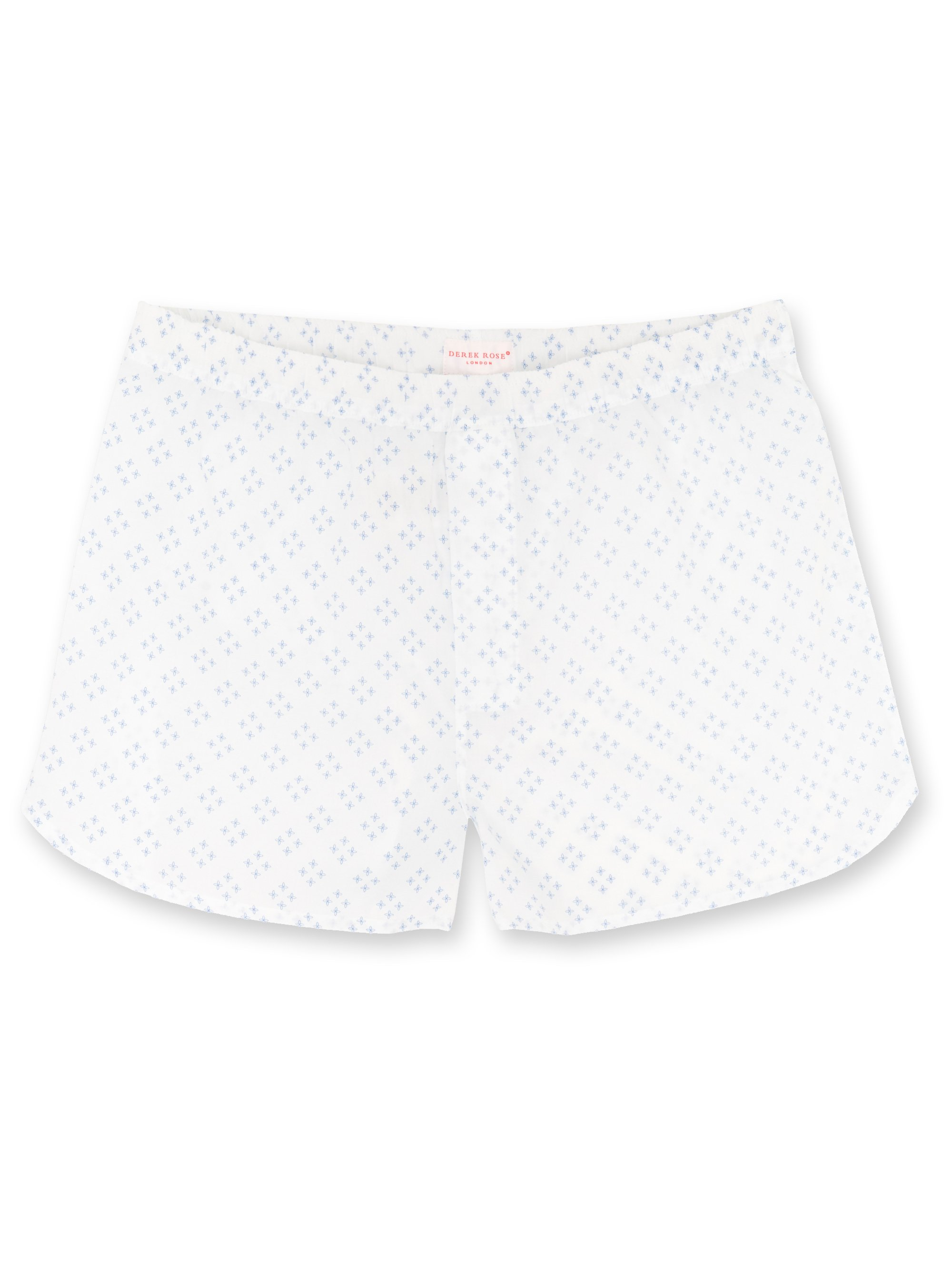 Men's Modern Fit Boxer Shorts Nelson 46 Printed Pure Cotton White