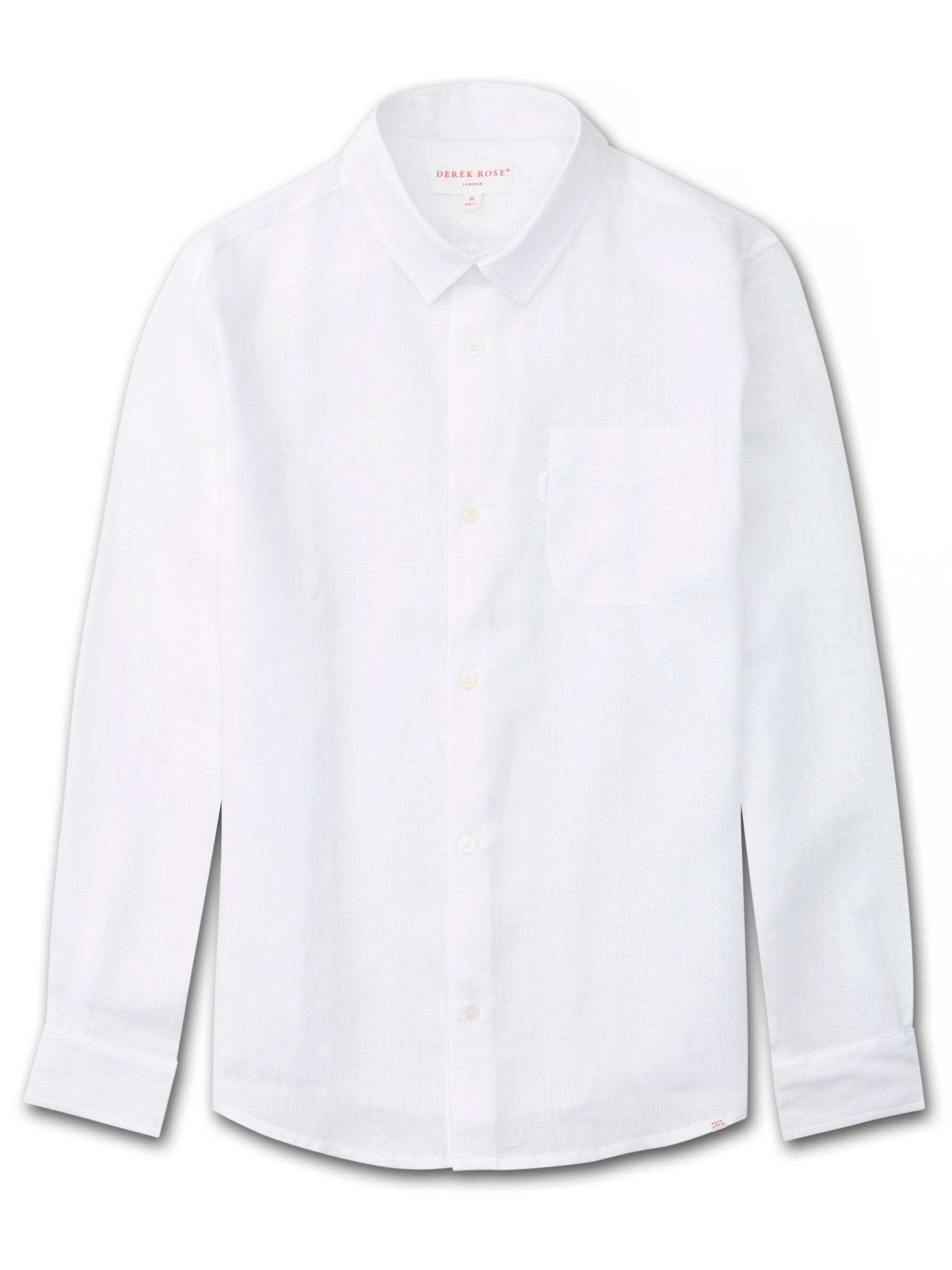 Men's Linen Shirt Monaco Pure Linen White
