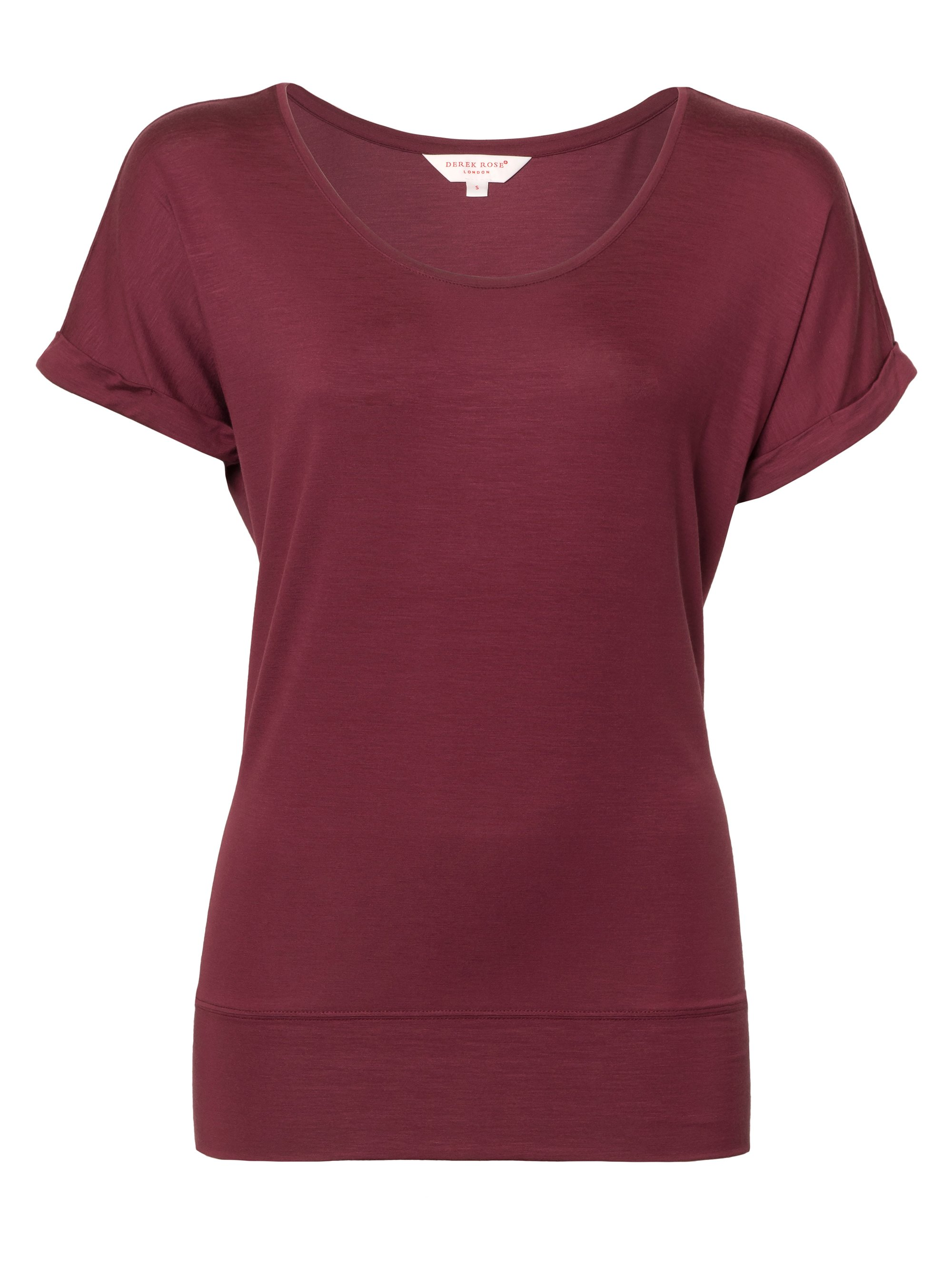 Women's Short Sleeve Lounge T-Shirt Carla Micro Modal Stretch Wine