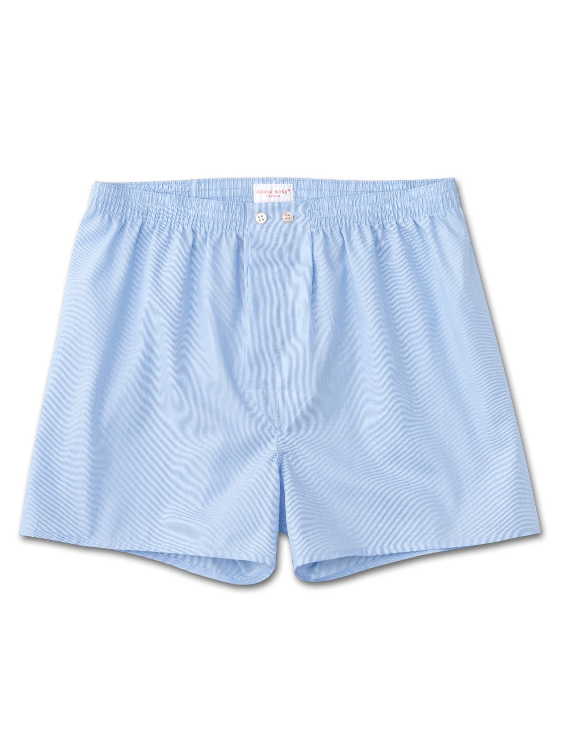 Men's Classic Fit Boxer Shorts James Pure Cotton Stripe Blue