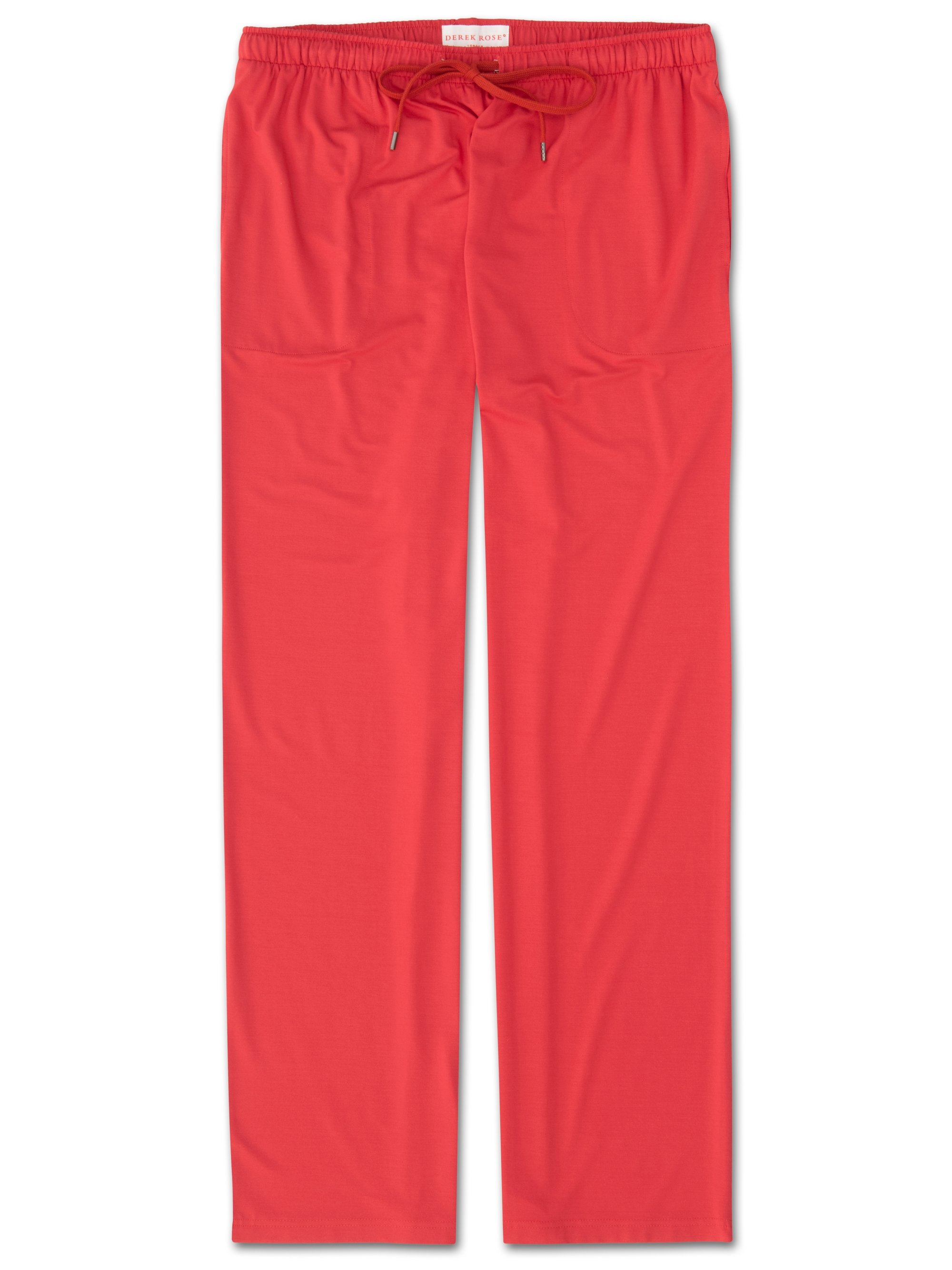 Men's Jersey Trousers Basel 6 Micro Modal Stretch Red