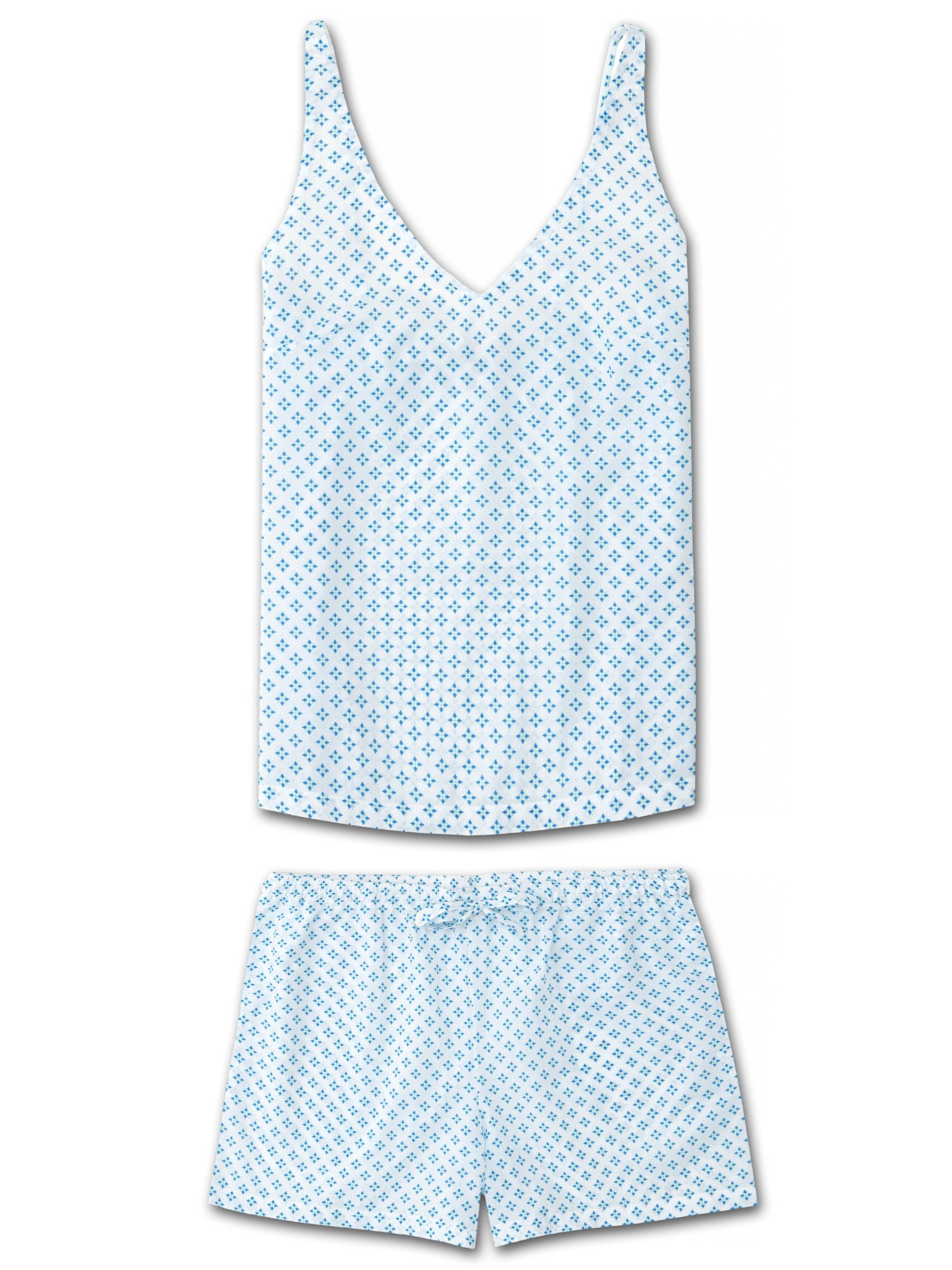 Women's Cami Short Pyjama Set Ledbury 32 Cotton Batiste White