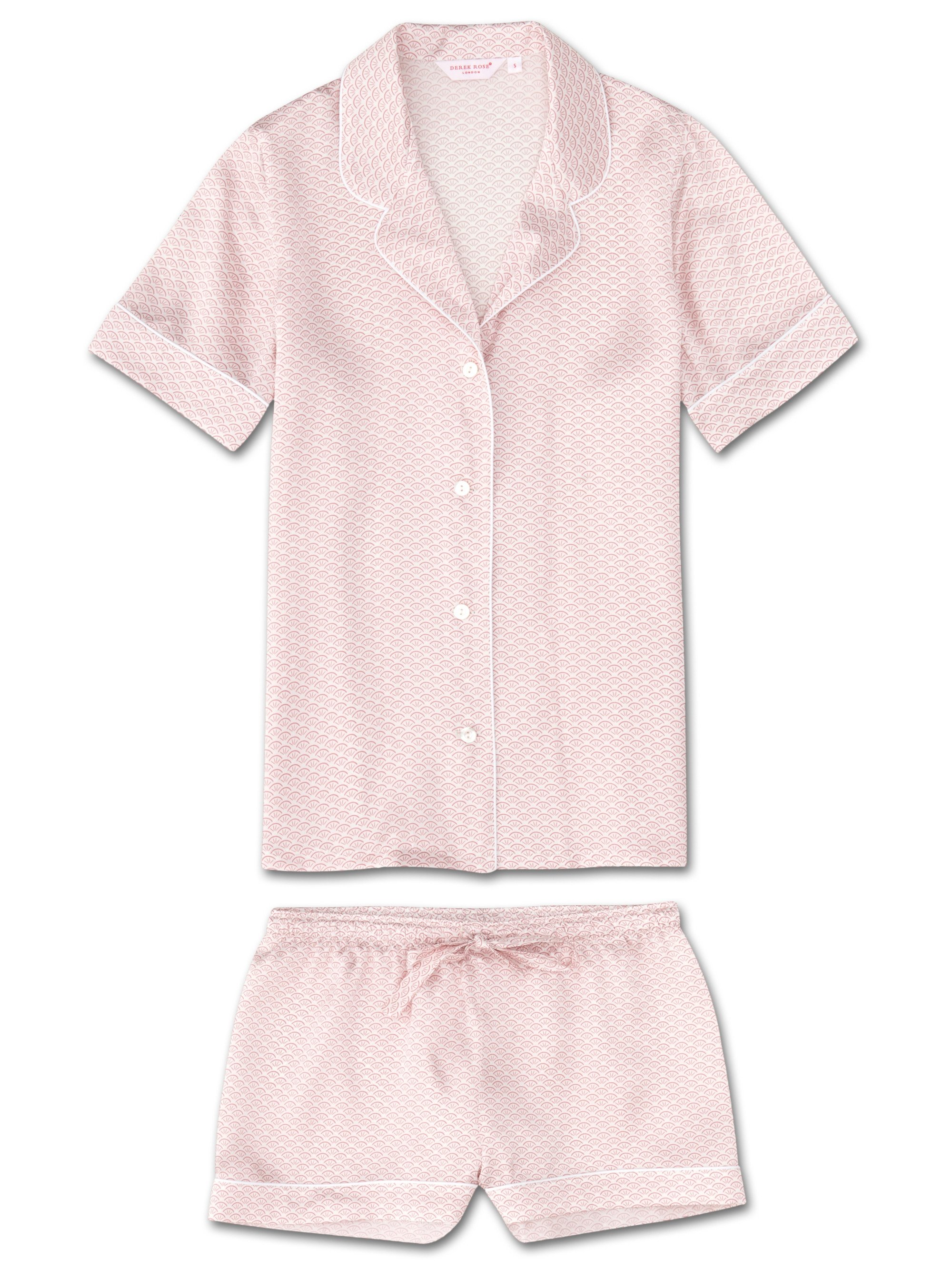 Women's Shortie Pyjamas Brindisi 26 Pure Silk Satin White