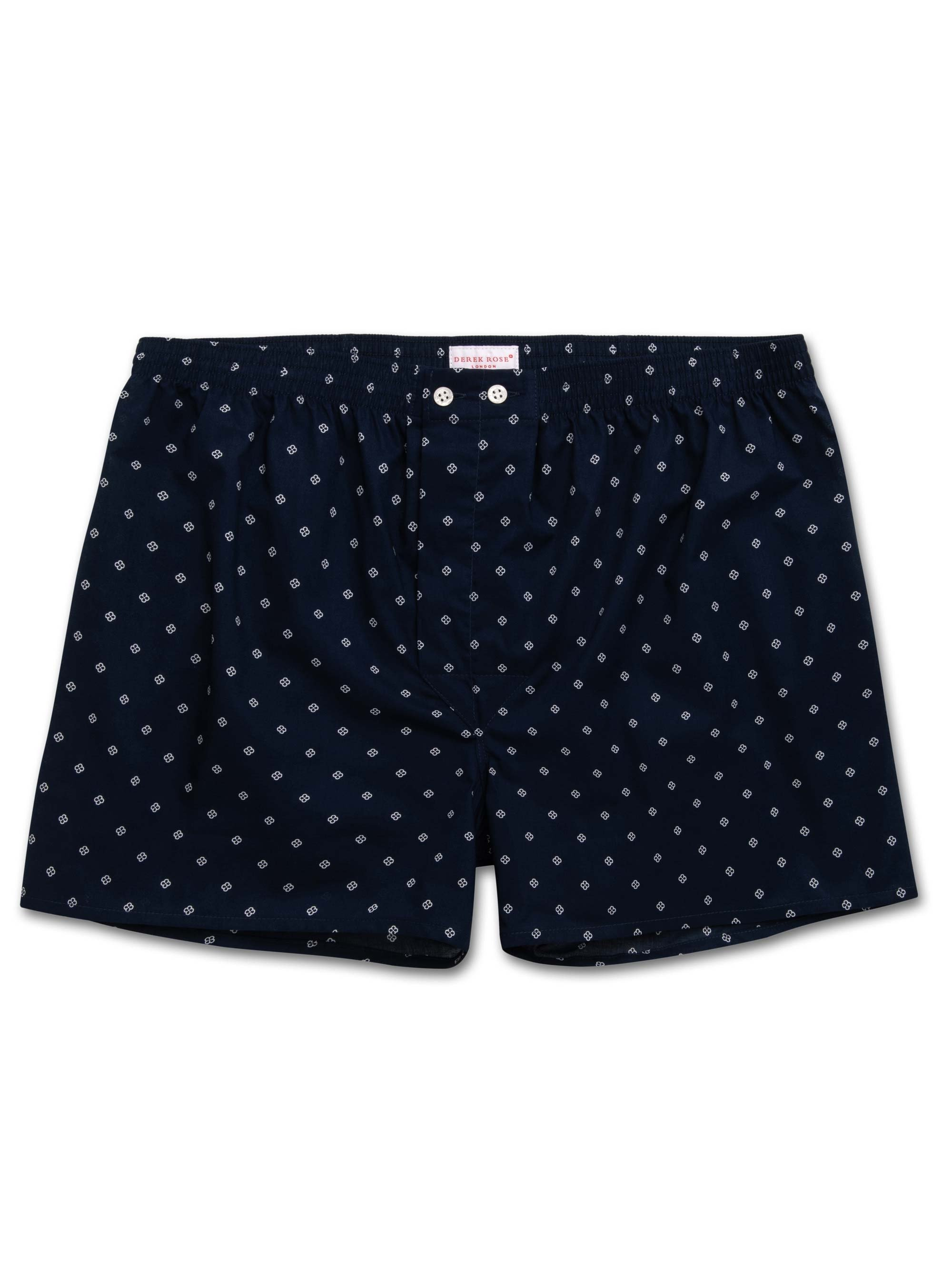 Men's Classic Fit Boxer Shorts Nelson 71 Cotton Batiste Navy