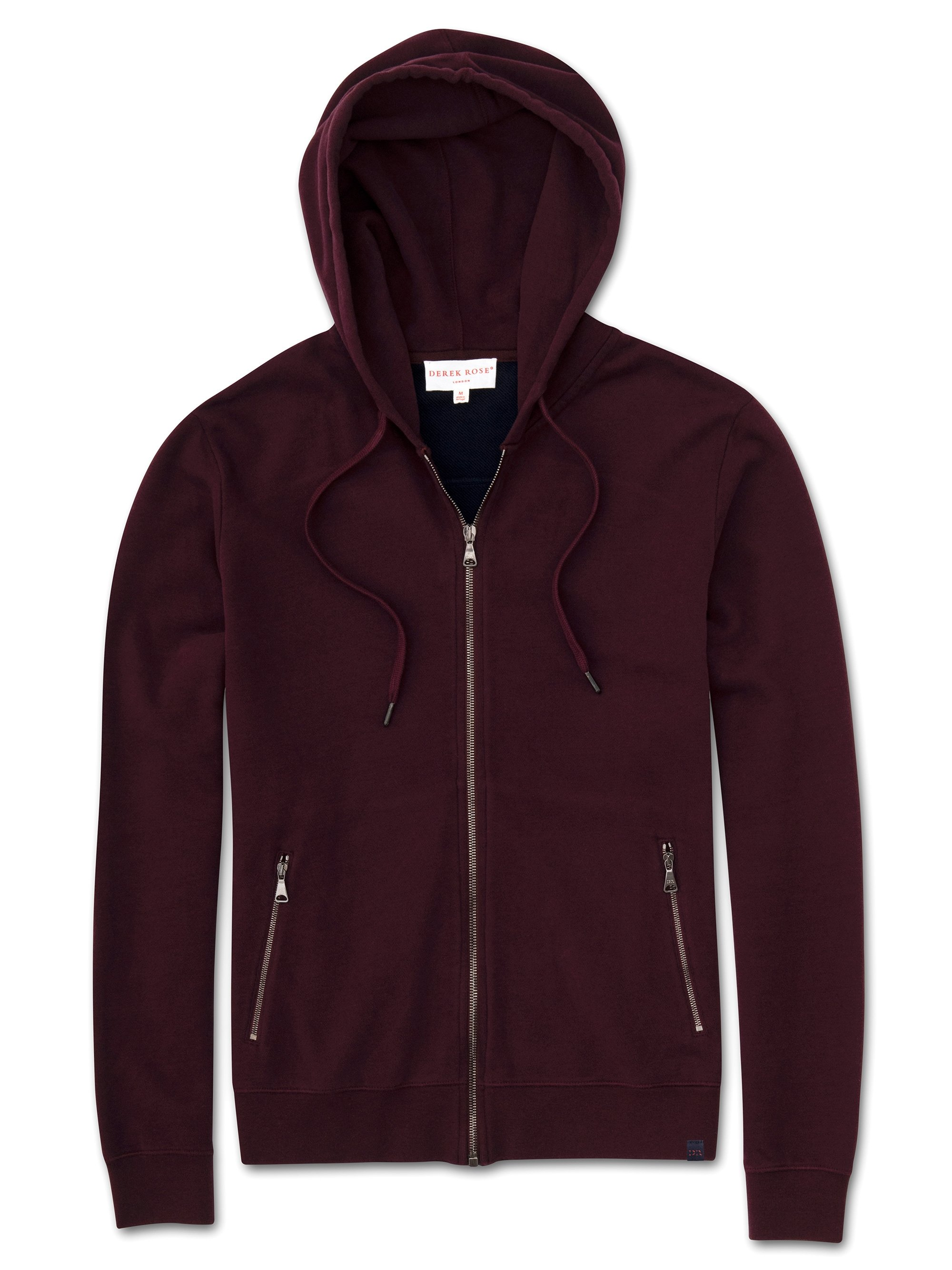 Men's Hoodie Devon 2 Loopback Cotton Burgundy