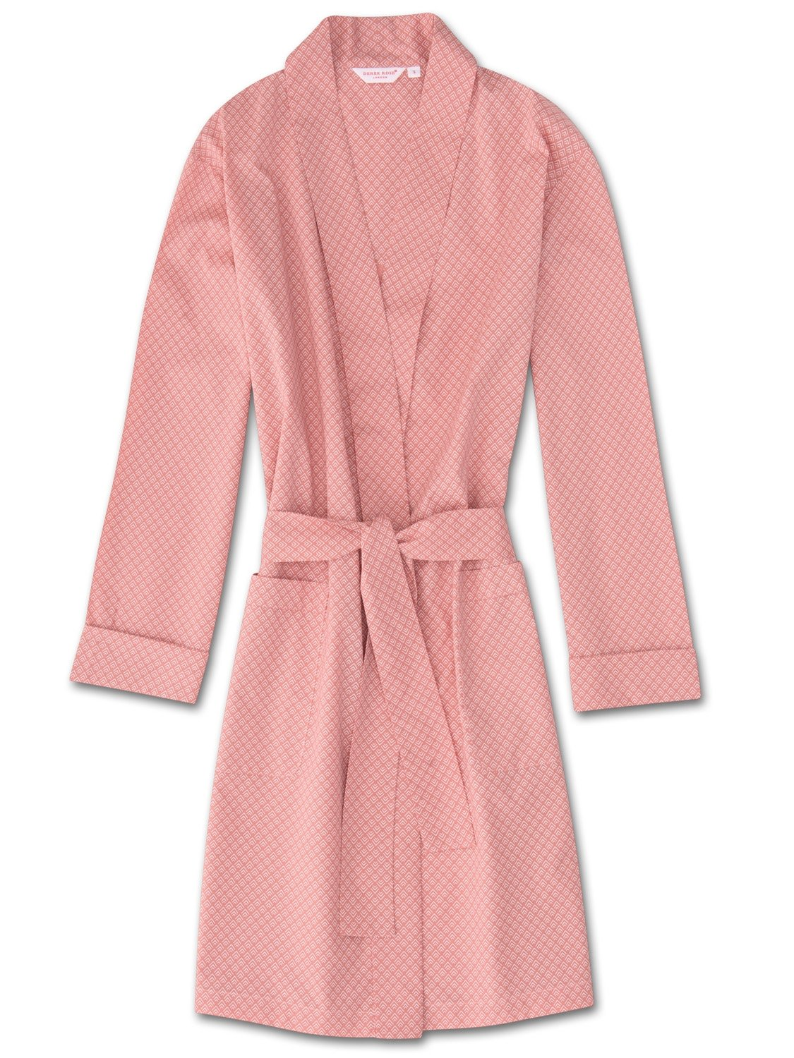 Women's Dressing Gown Nelson 66 Cotton Batiste Pink