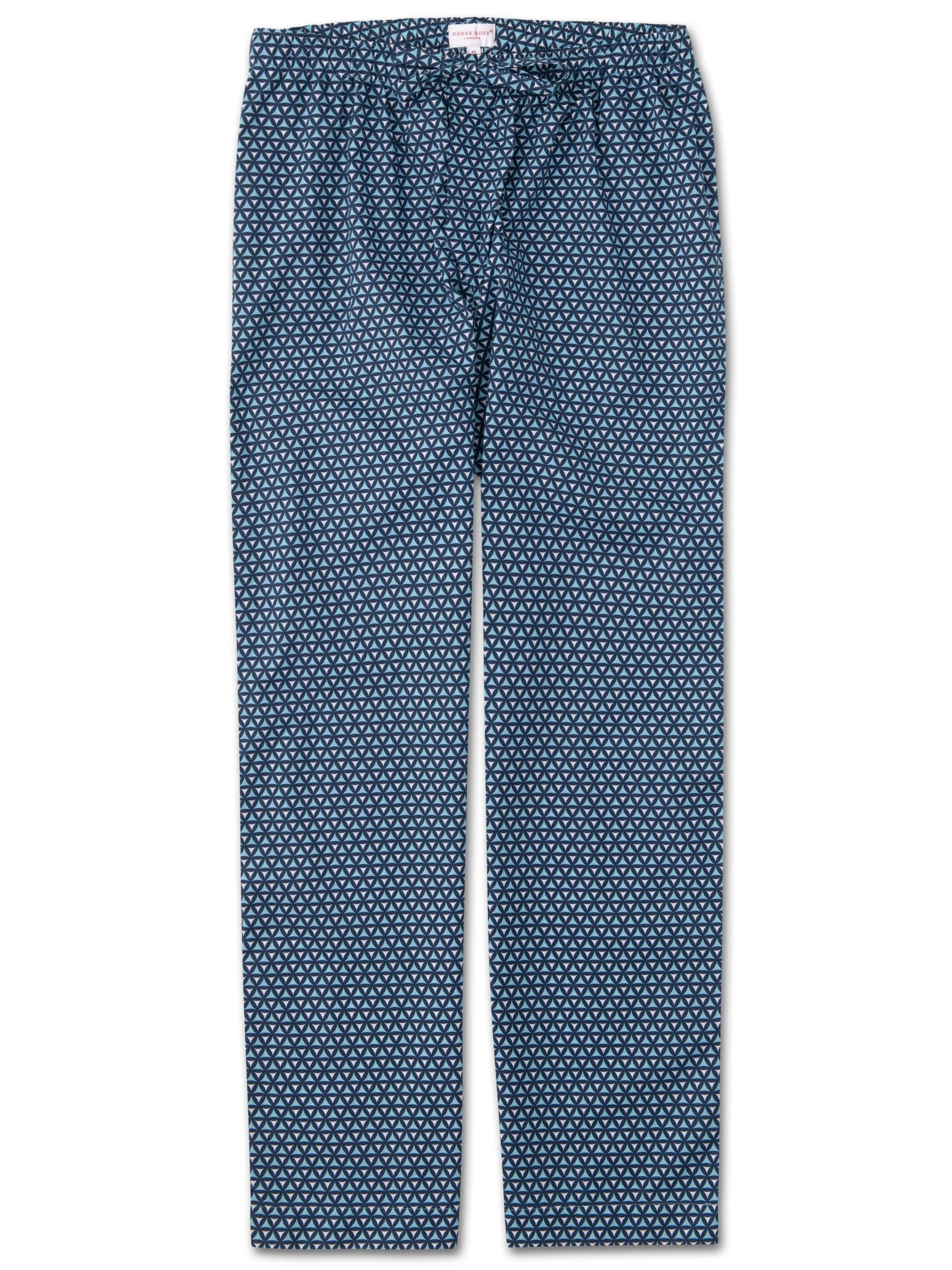 Men's Lounge Trousers Ledbury 26 Cotton Batiste Navy