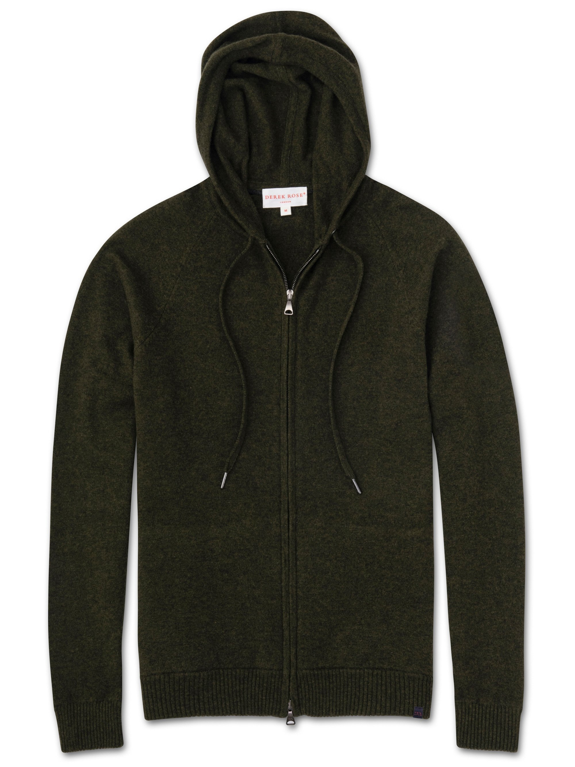 Men's Cashmere Hoodie Finley 3 Pure Cashmere Green