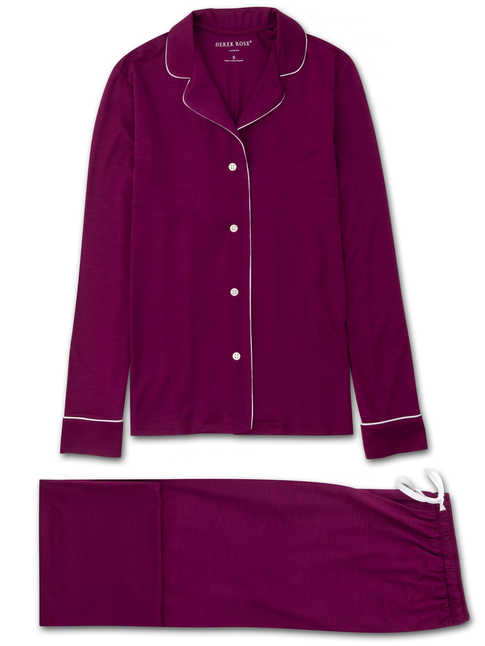 Women's Jersey Pyjamas Lara Micro Modal Stretch Berry