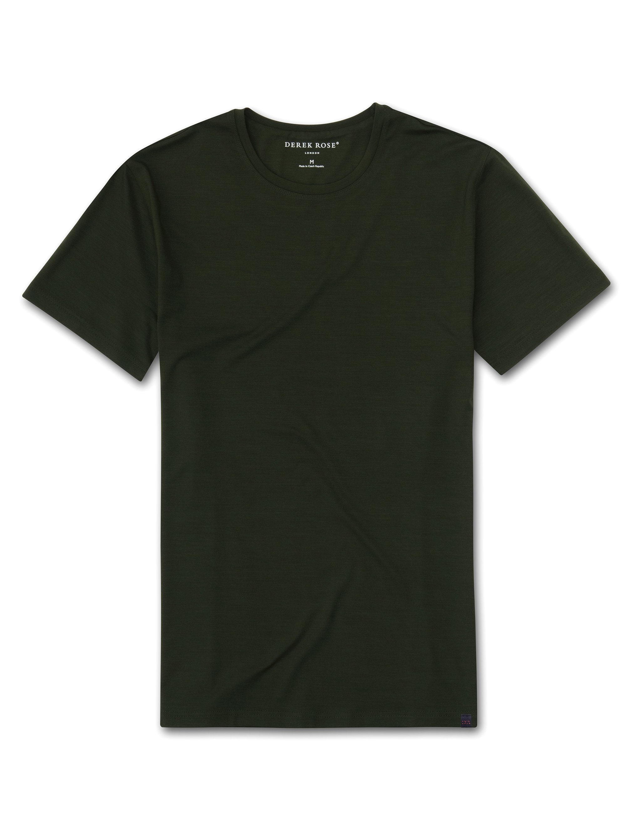 Men's Short Sleeve T-Shirt Basel 9 Micro Modal Stretch Green