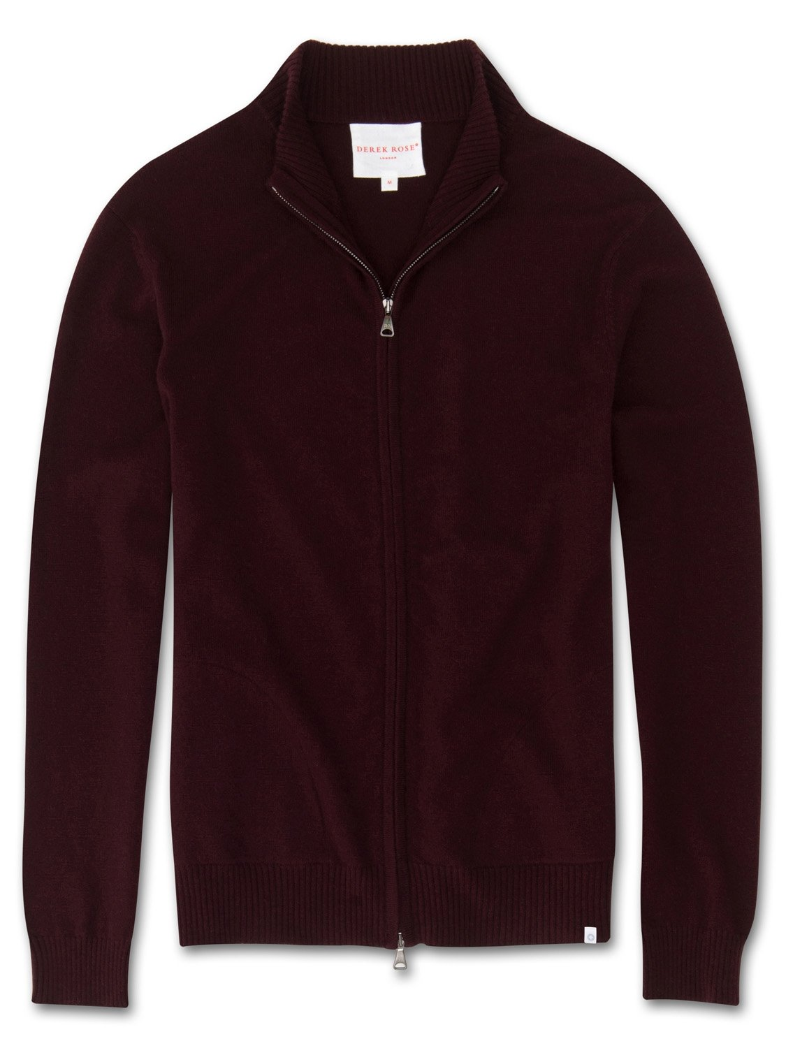 Men's Cashmere Zip-Up Top Finley Pure Cashmere Burgundy