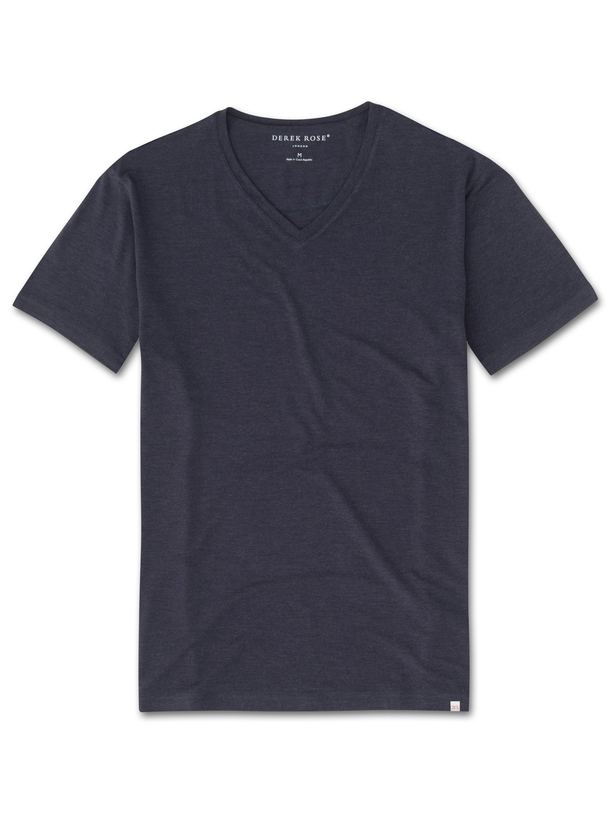 Men's Short Sleeve V-Neck T-Shirt Marlowe Micro Modal Stretch Navy