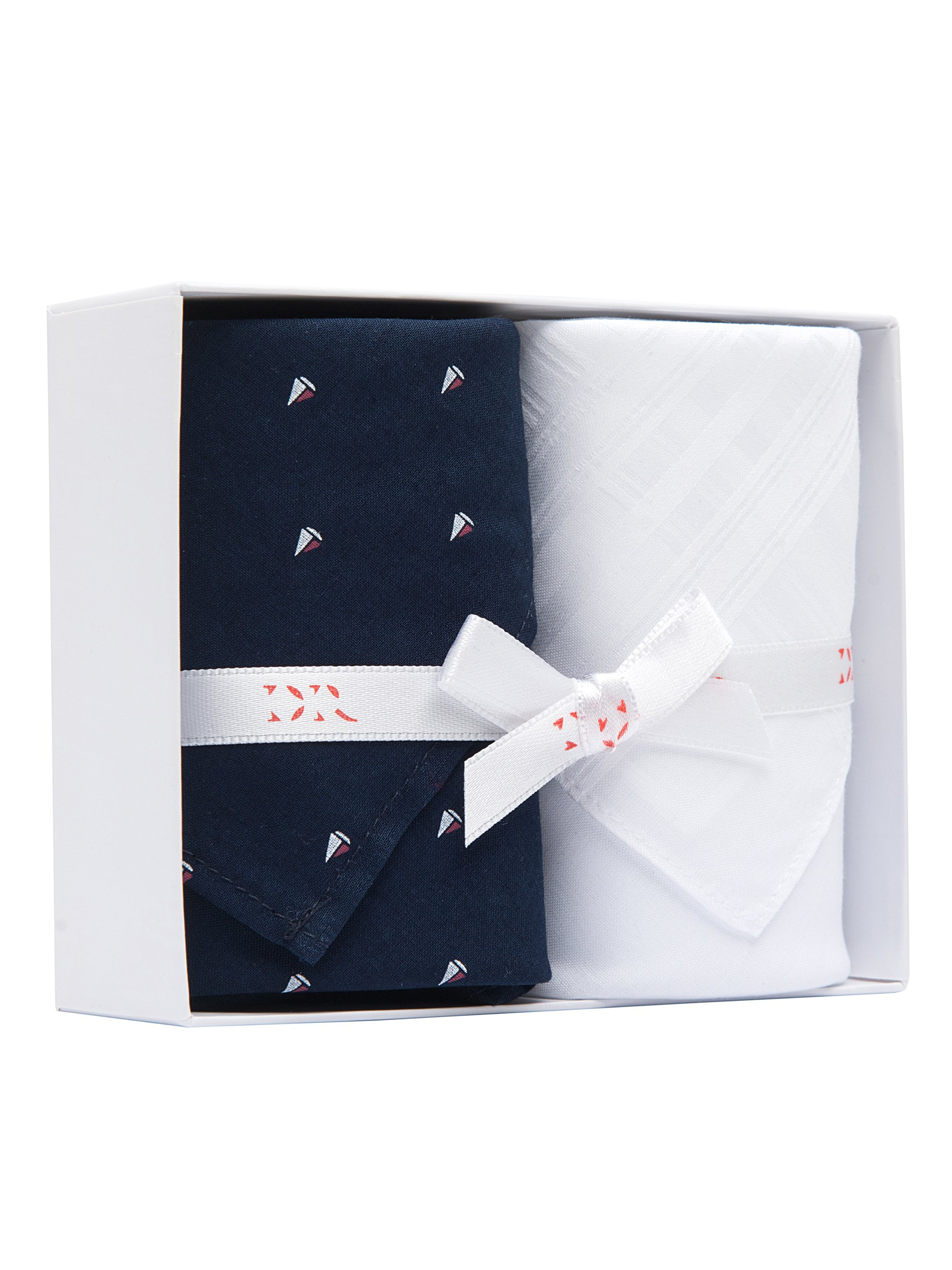 Handkerchief Set Pack 101 Assorted Nelson 53 Navy & Plain White