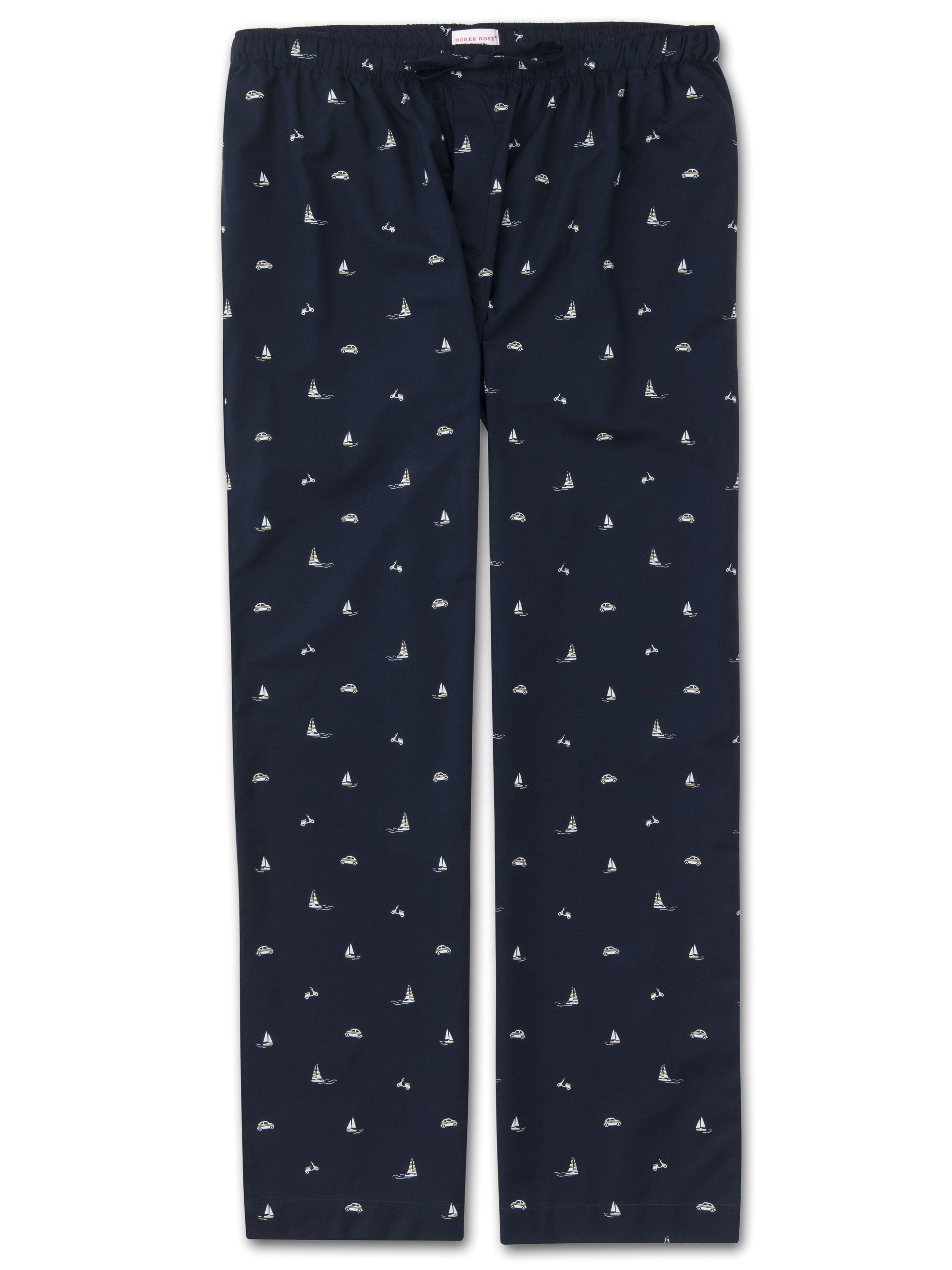Men's Lounge Trousers Nelson 73 Cotton Batiste Navy