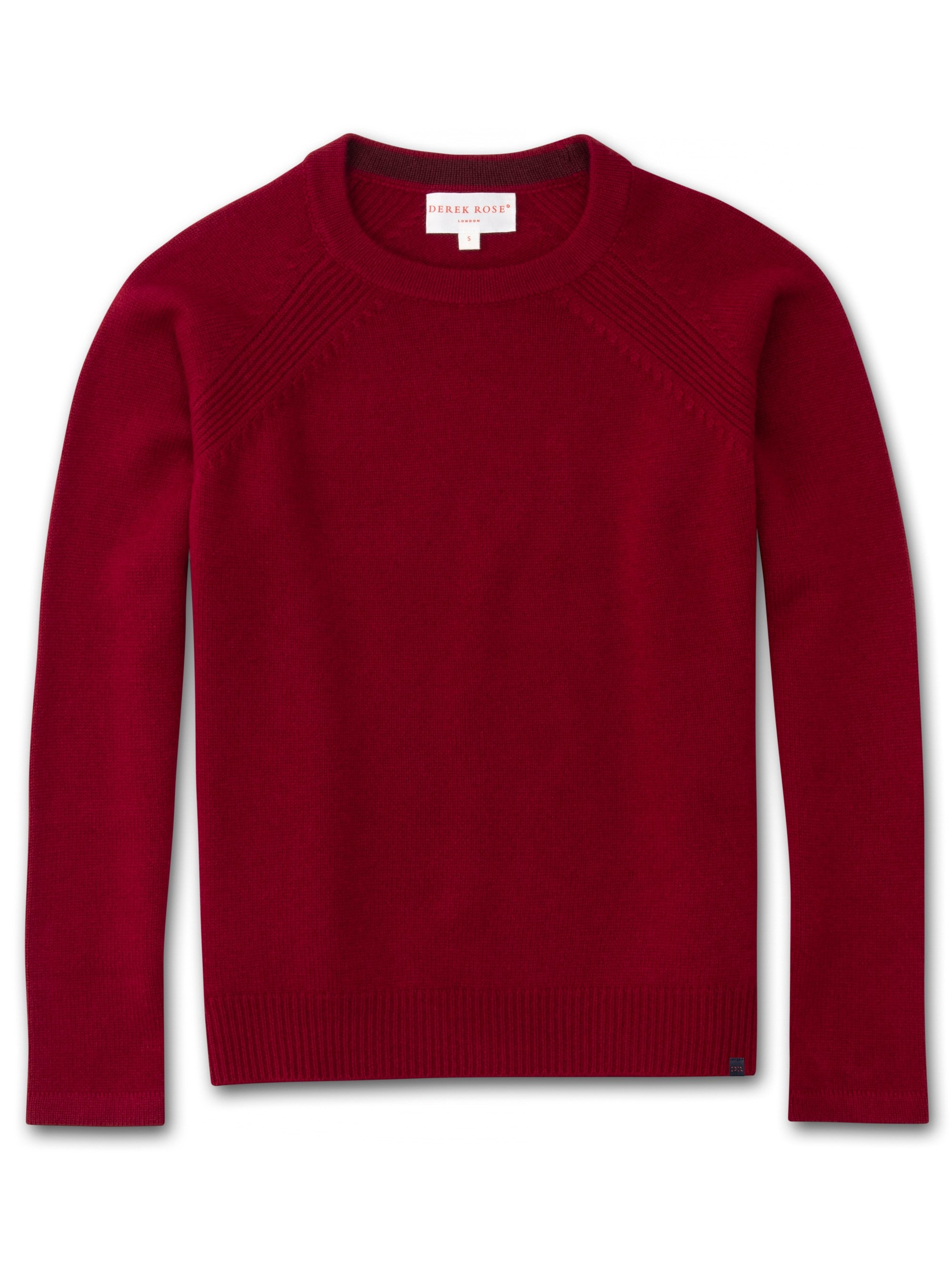 Women's Cashmere Sweater Daphne Pure Cashmere Crimson