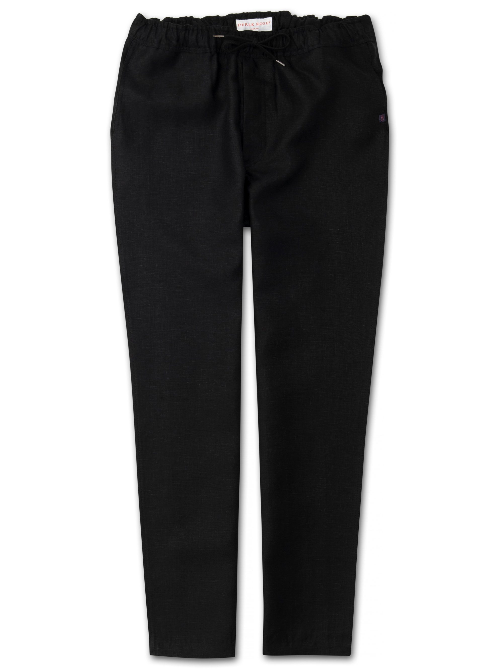 Men's Linen Trousers Sydney Linen Black