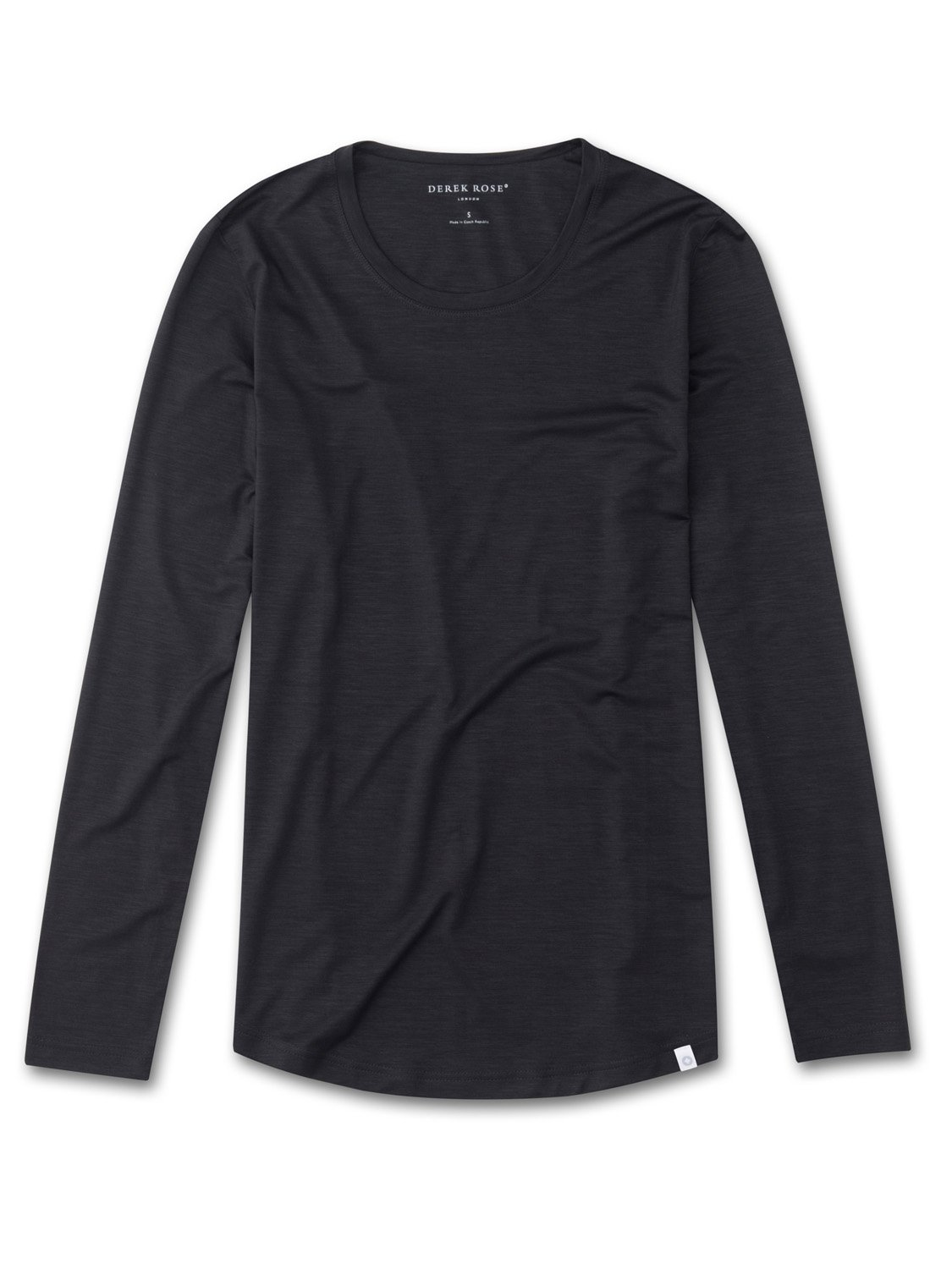 Women's Long Sleeve T-Shirt Carla Micro Modal Stretch Charcoal