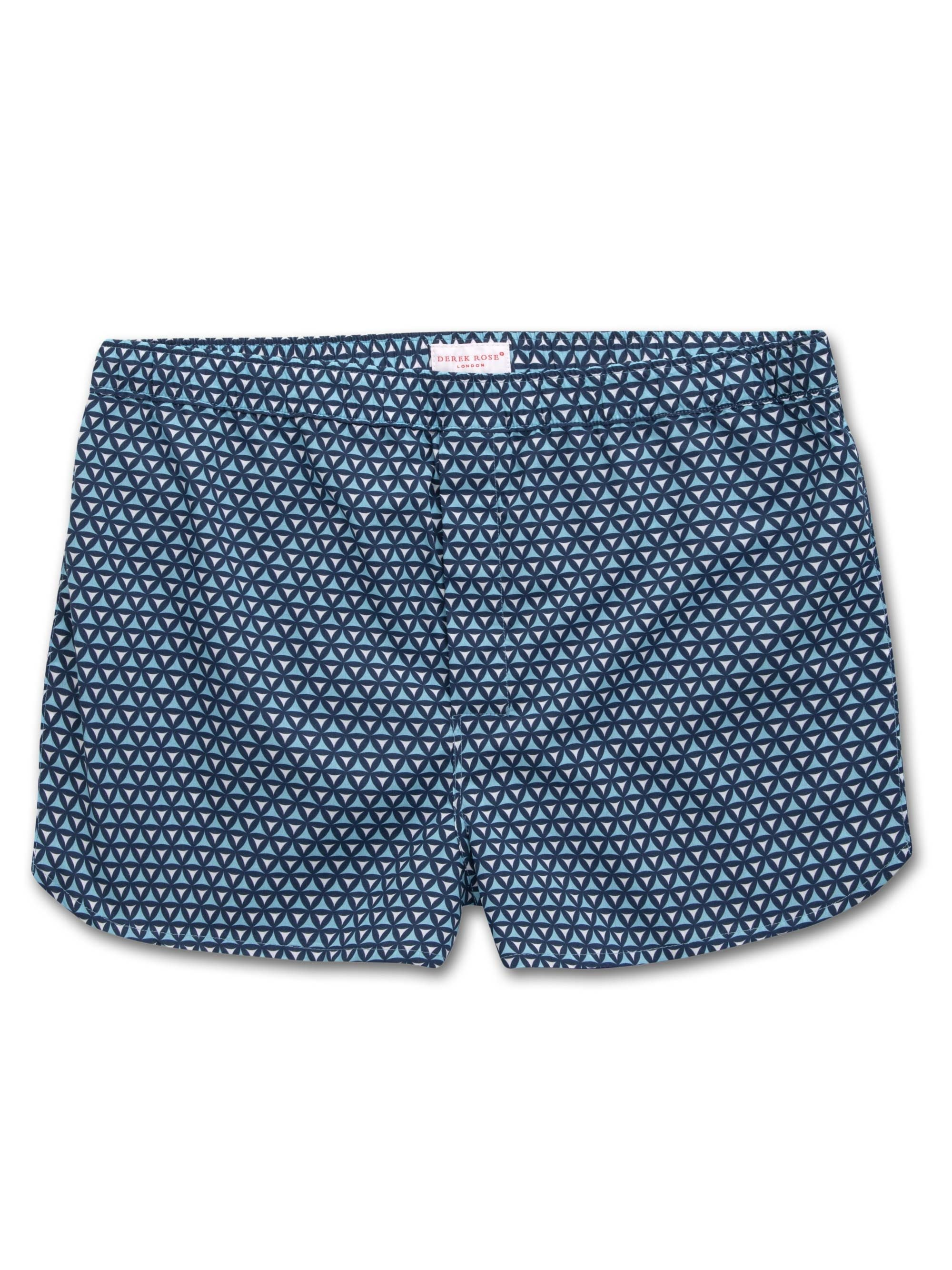 Men's Modern Fit Boxer Shorts Ledbury 26 Cotton Batiste Navy