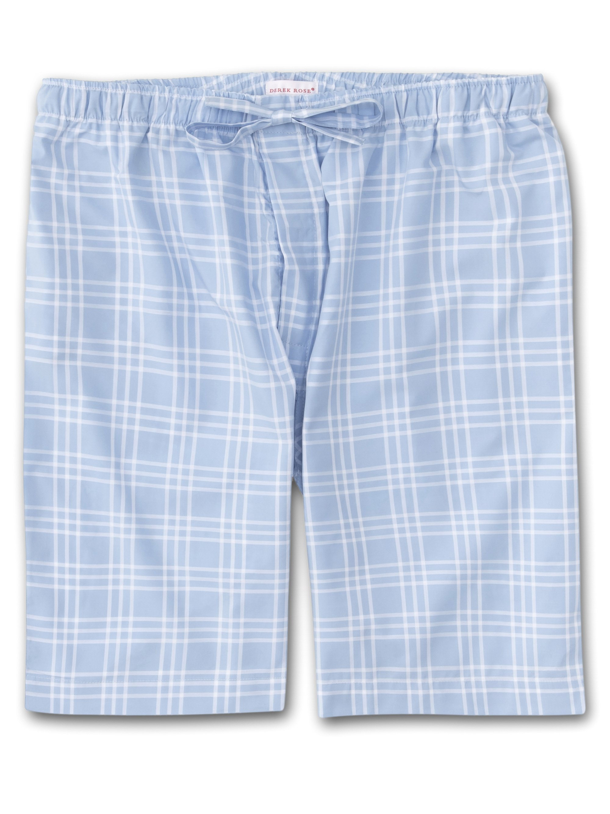 Men's Lounge Shorts Barker 27 Cotton Check Blue