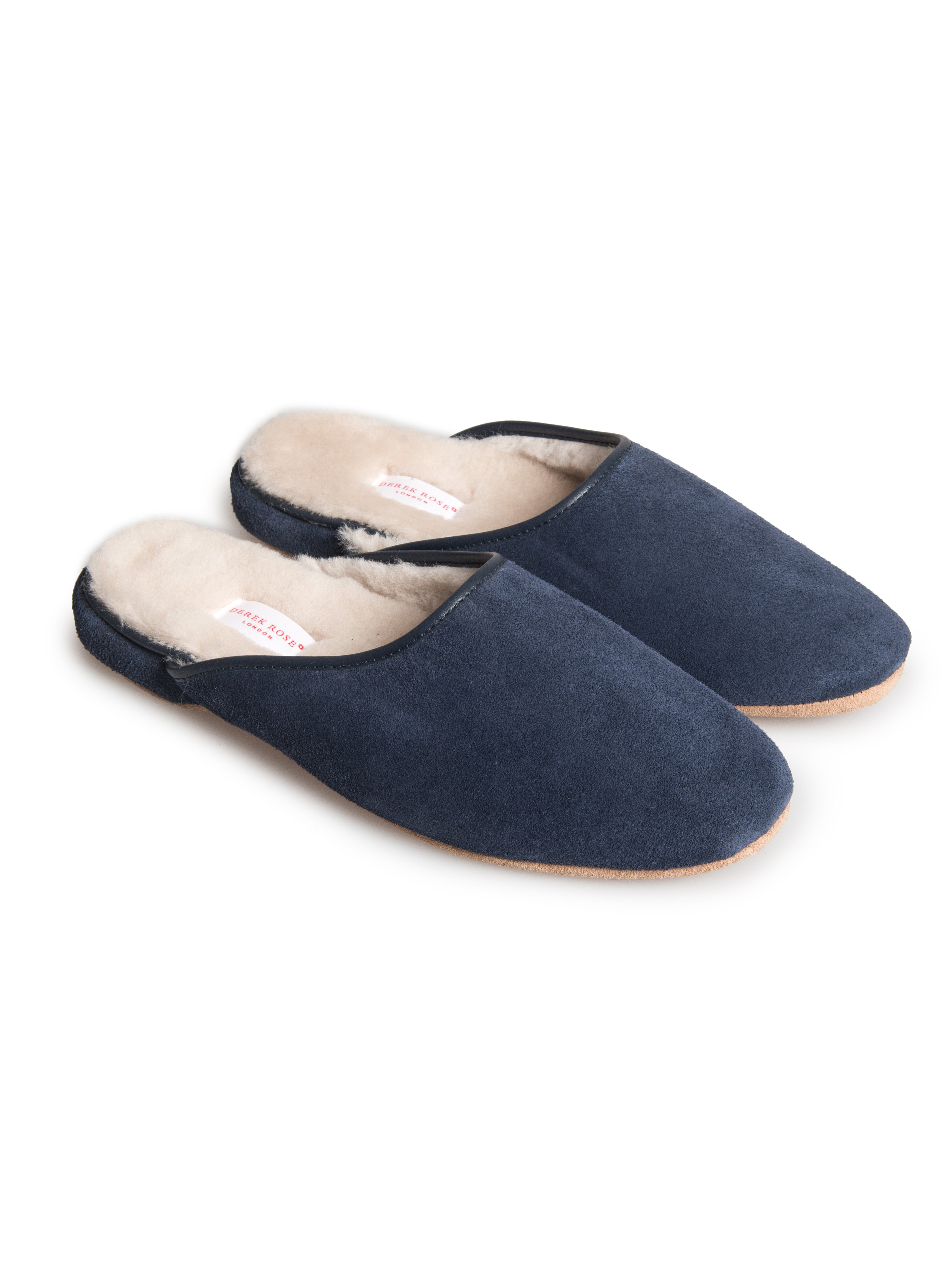 Men's Open-Back Slipper Douglas Sheepskin Navy