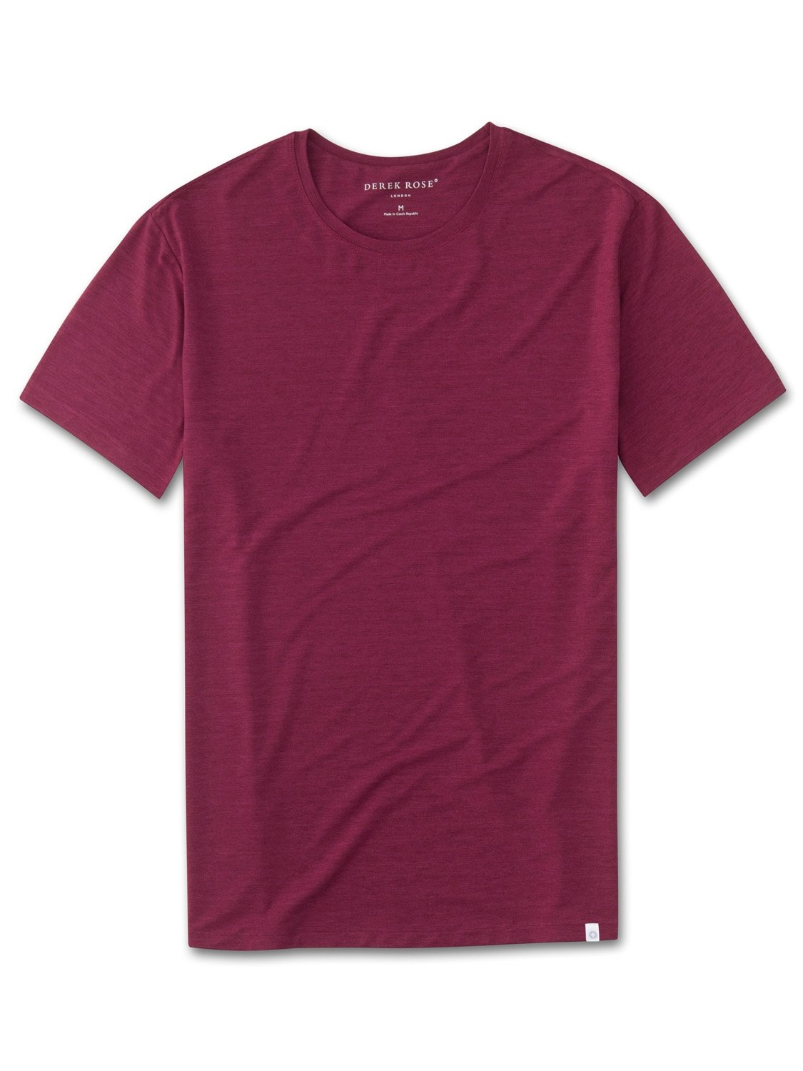 Men's Short Sleeve T-Shirt Ethan Micro Modal Stretch Burgundy