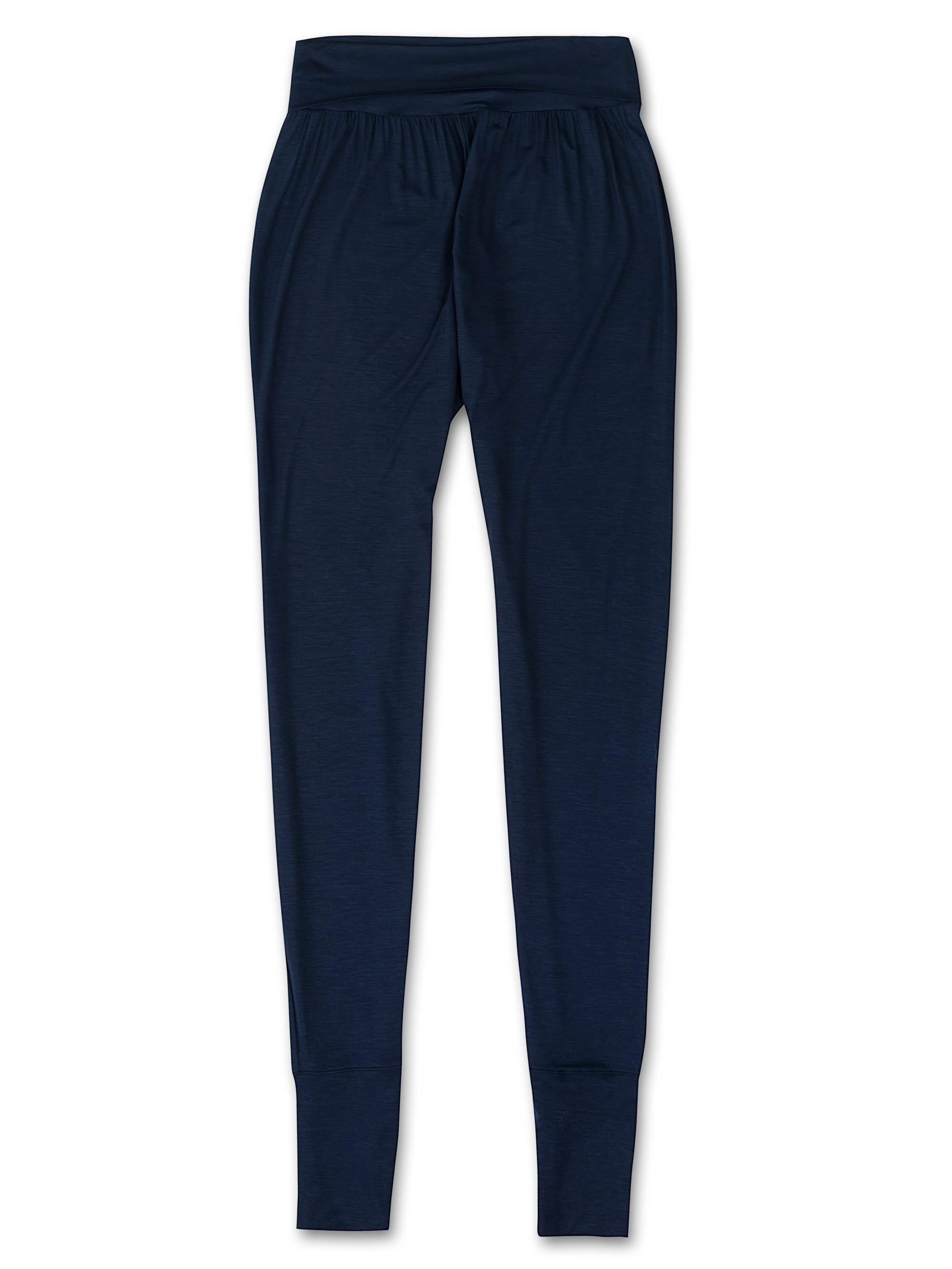 Women's Tapered Lounge Trousers Carla Micro Modal Stretch Midnight