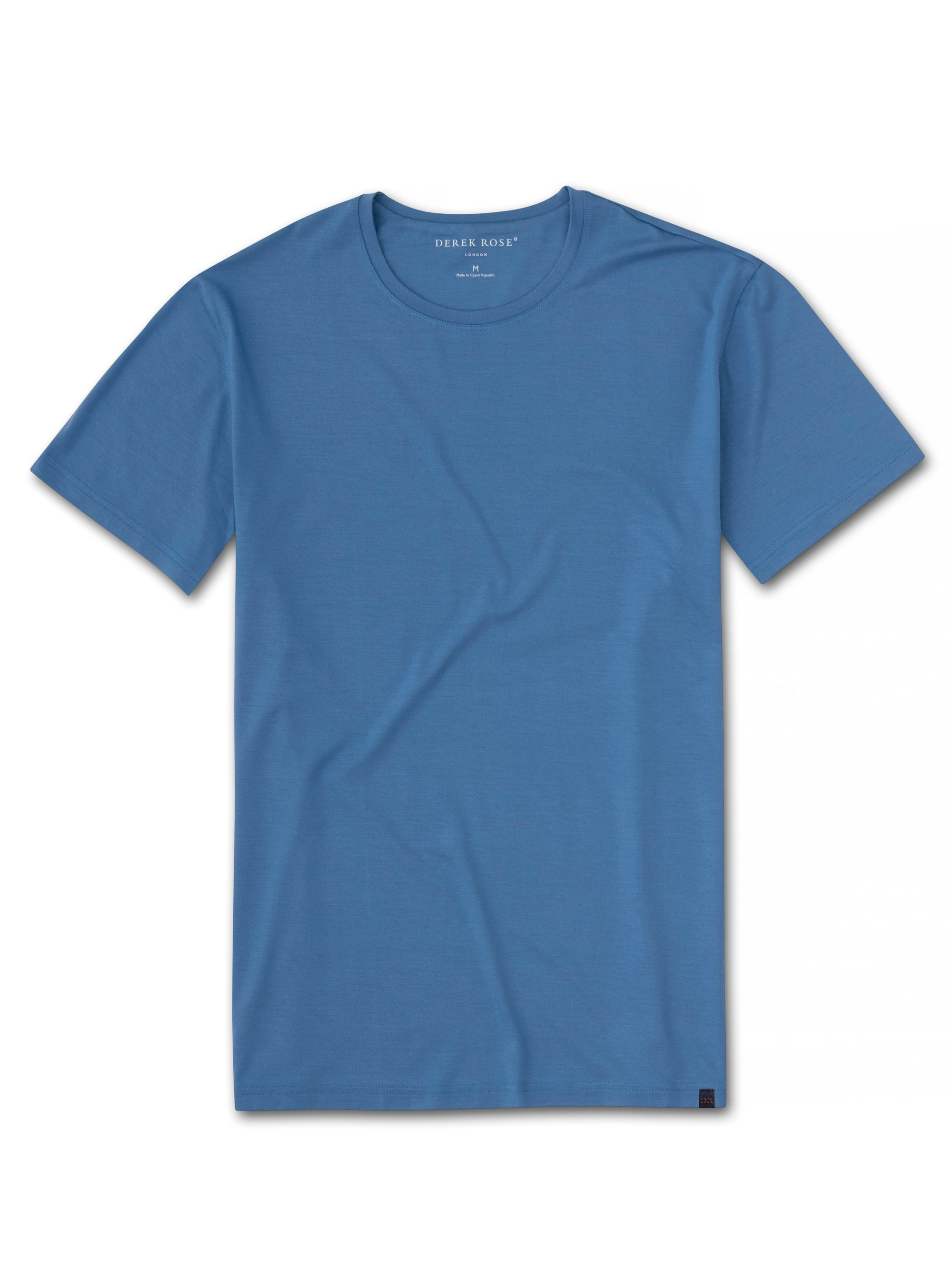 Men's Short Sleeve T-Shirt Basel 9 Micro Modal Stretch Blue