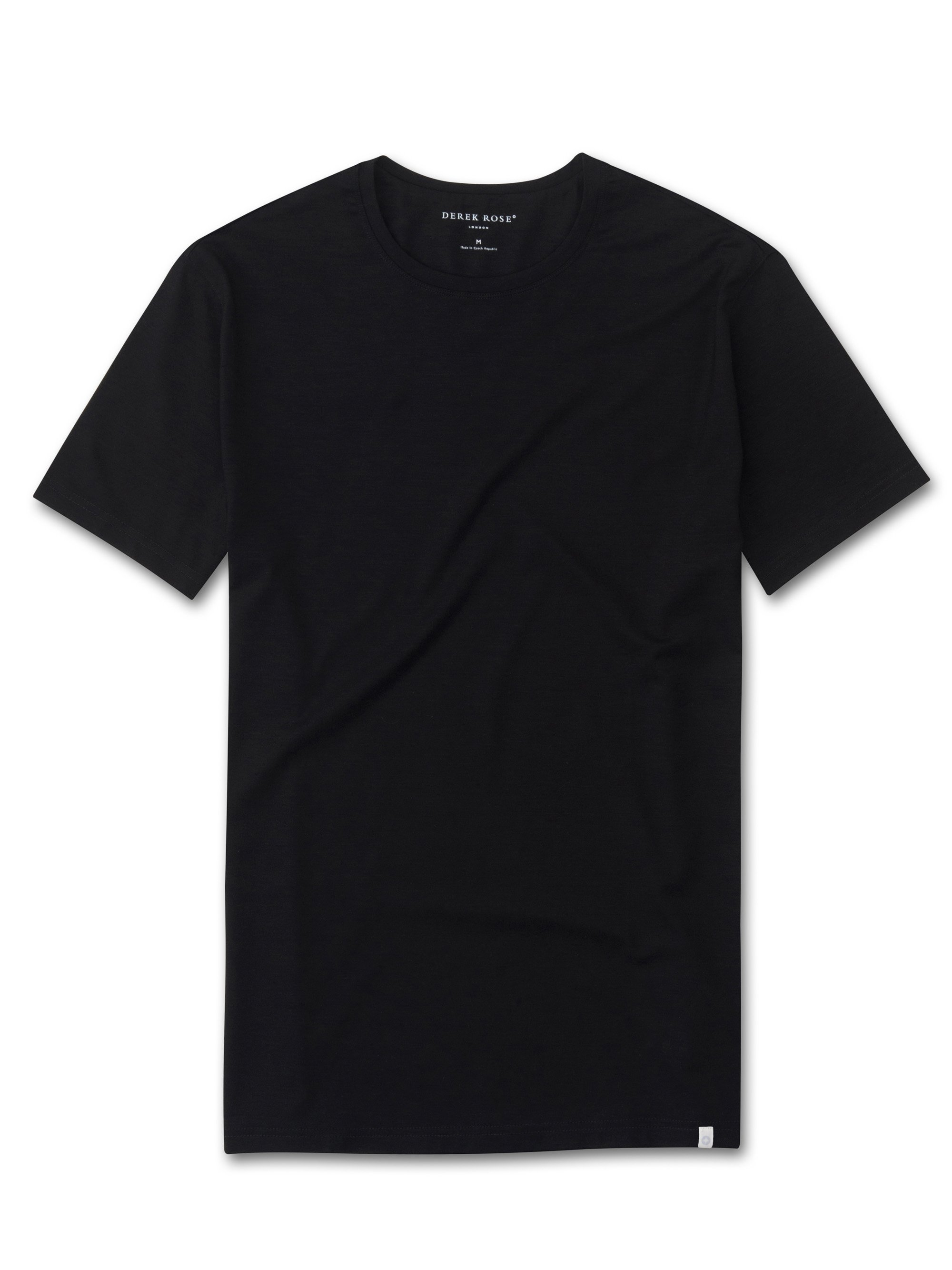 Men's Short Sleeve T-Shirt Basel Micro Modal Stretch Black