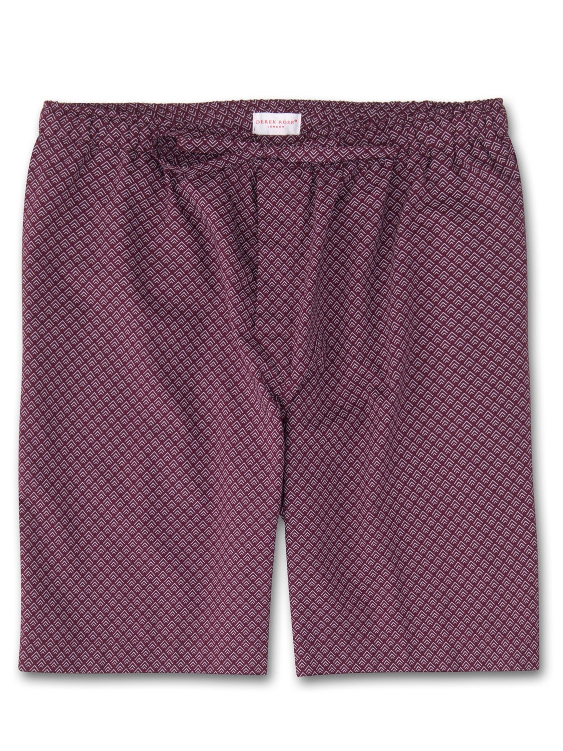 Men's Lounge Shorts Nelson 66 Cotton Batiste Burgundy