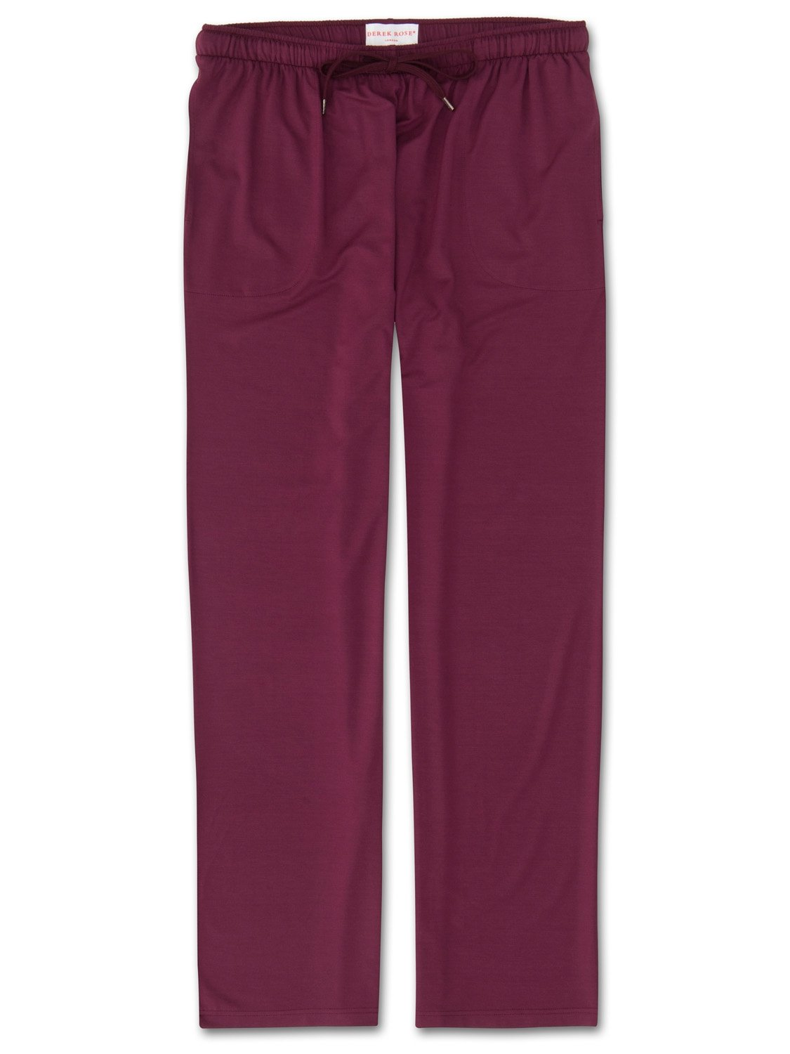 Men's Jersey Trousers Basel 5 Micro Modal Stretch Burgundy