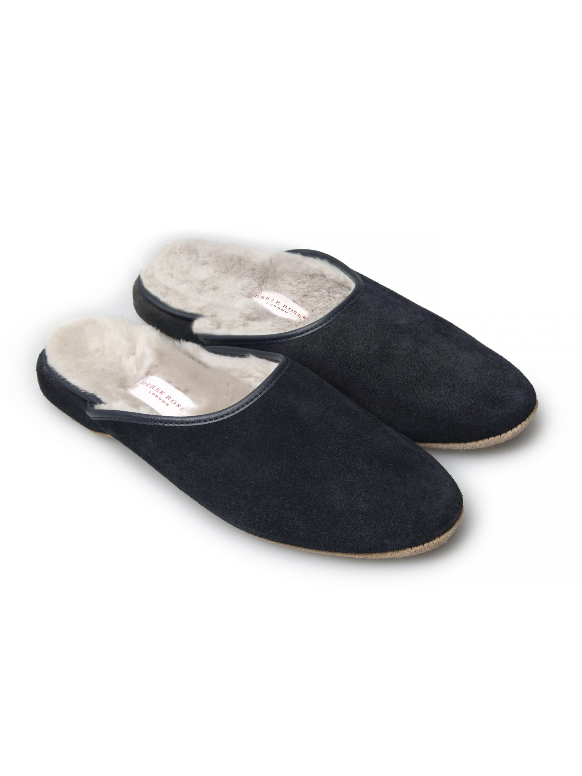 Women's Open-Back Slipper Imogen Suede Sheepskin Navy