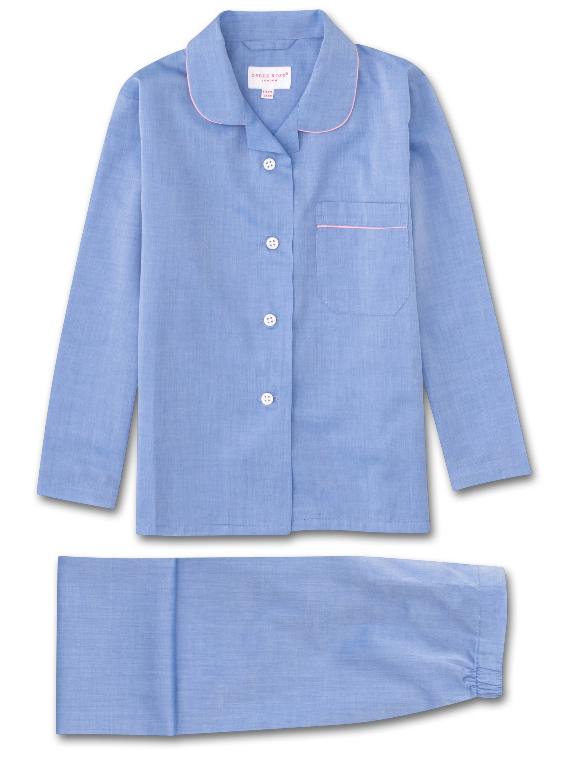 Girls' Pyjamas Amalfi Cotton Batiste Blue