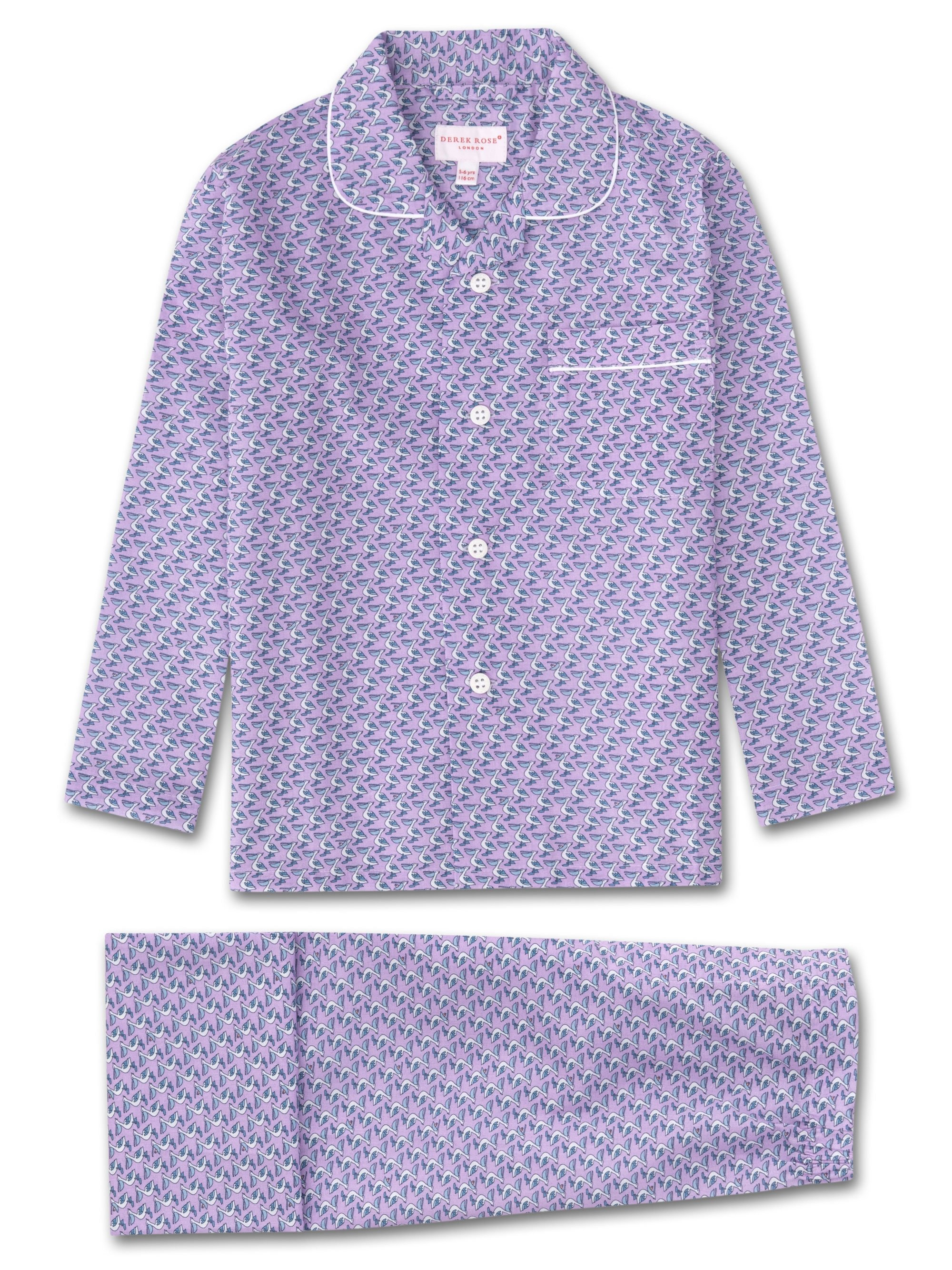Kids' Pyjamas Ledbury 16 Cotton Batiste Lilac