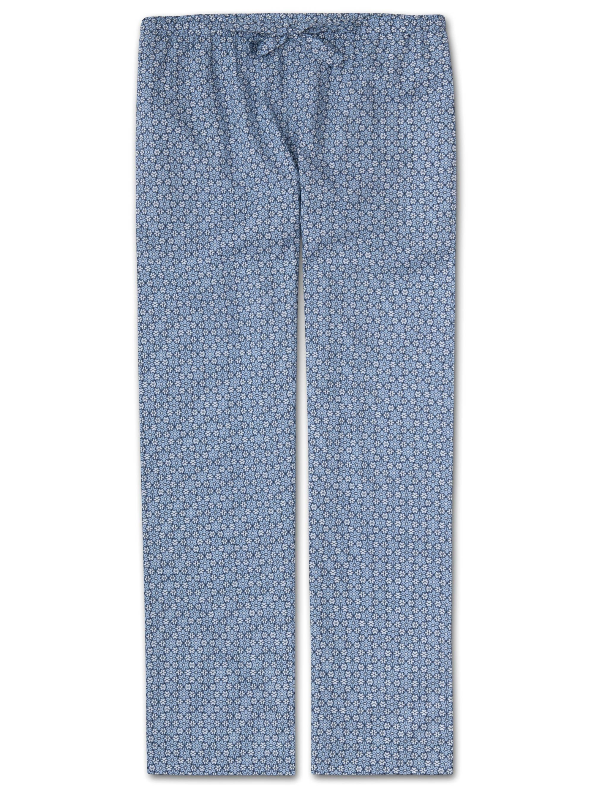 Women's Lounge Trousers Ledbury 37 Cotton Batiste Blue