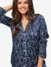 Women's Pyjamas Brindisi 59 Pure Silk Satin Navy