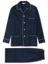Men's Classic Fit Piped Pyjamas Nelson 68 Cotton Batiste Navy
