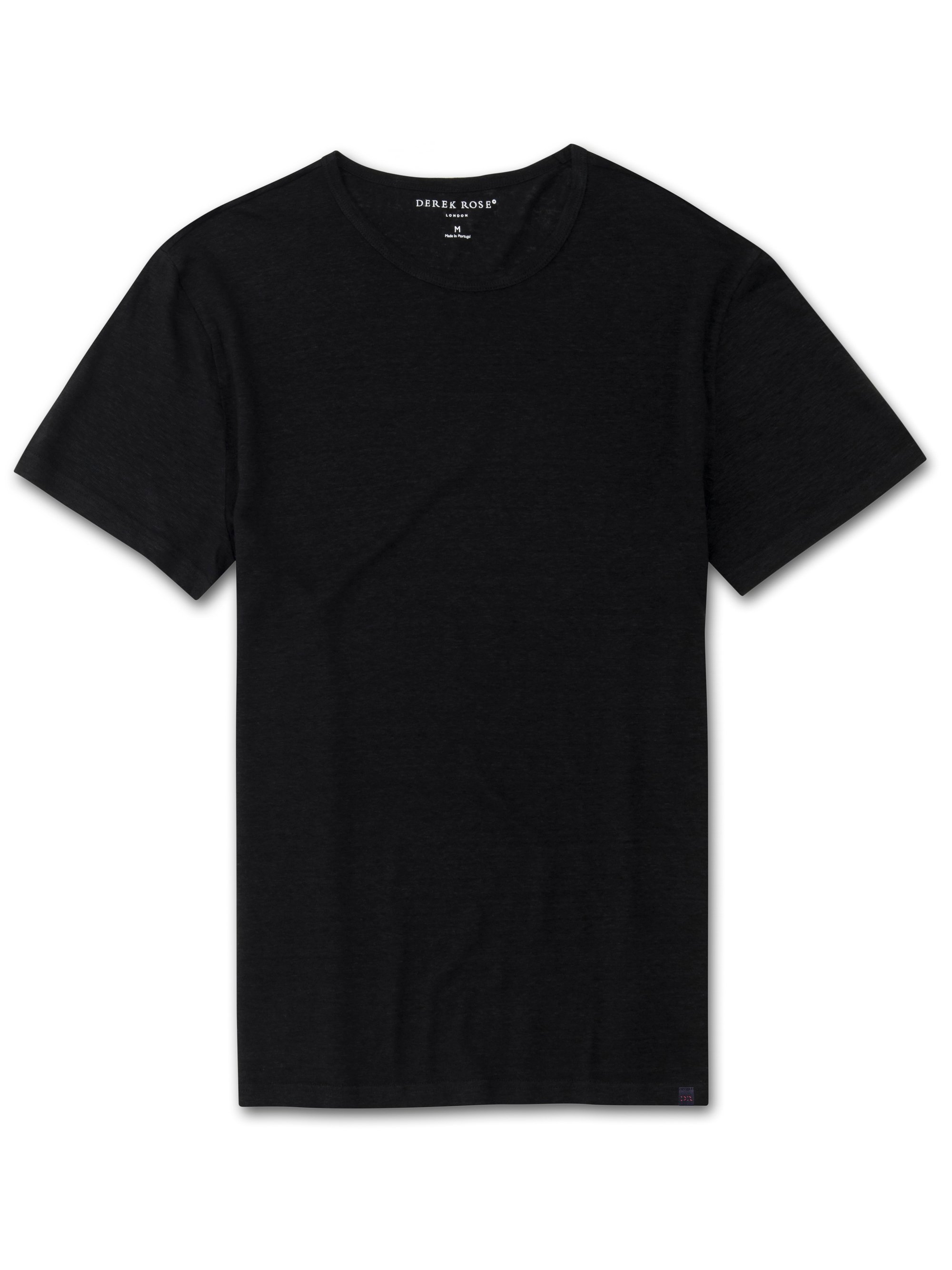 Men's Linen Short Sleeve T-Shirt Jordan Pure Linen Black