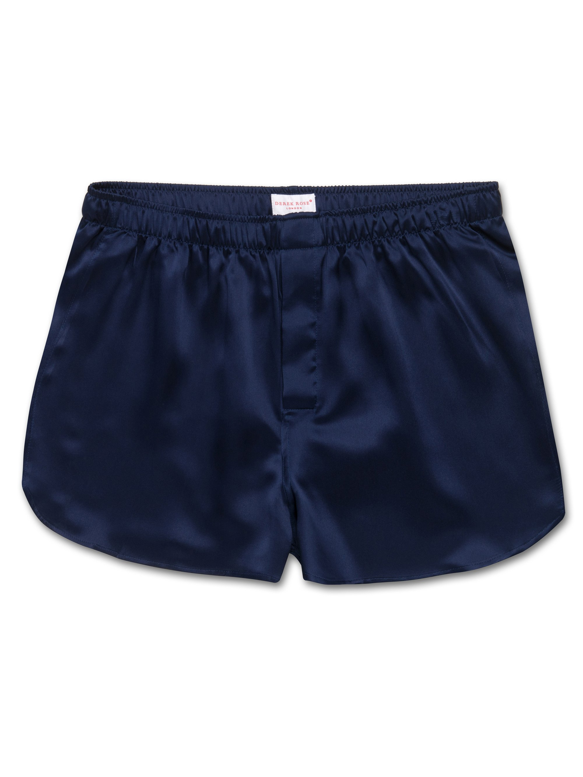 Men's Modern Fit Boxer Shorts Bailey Pure Silk Satin Navy