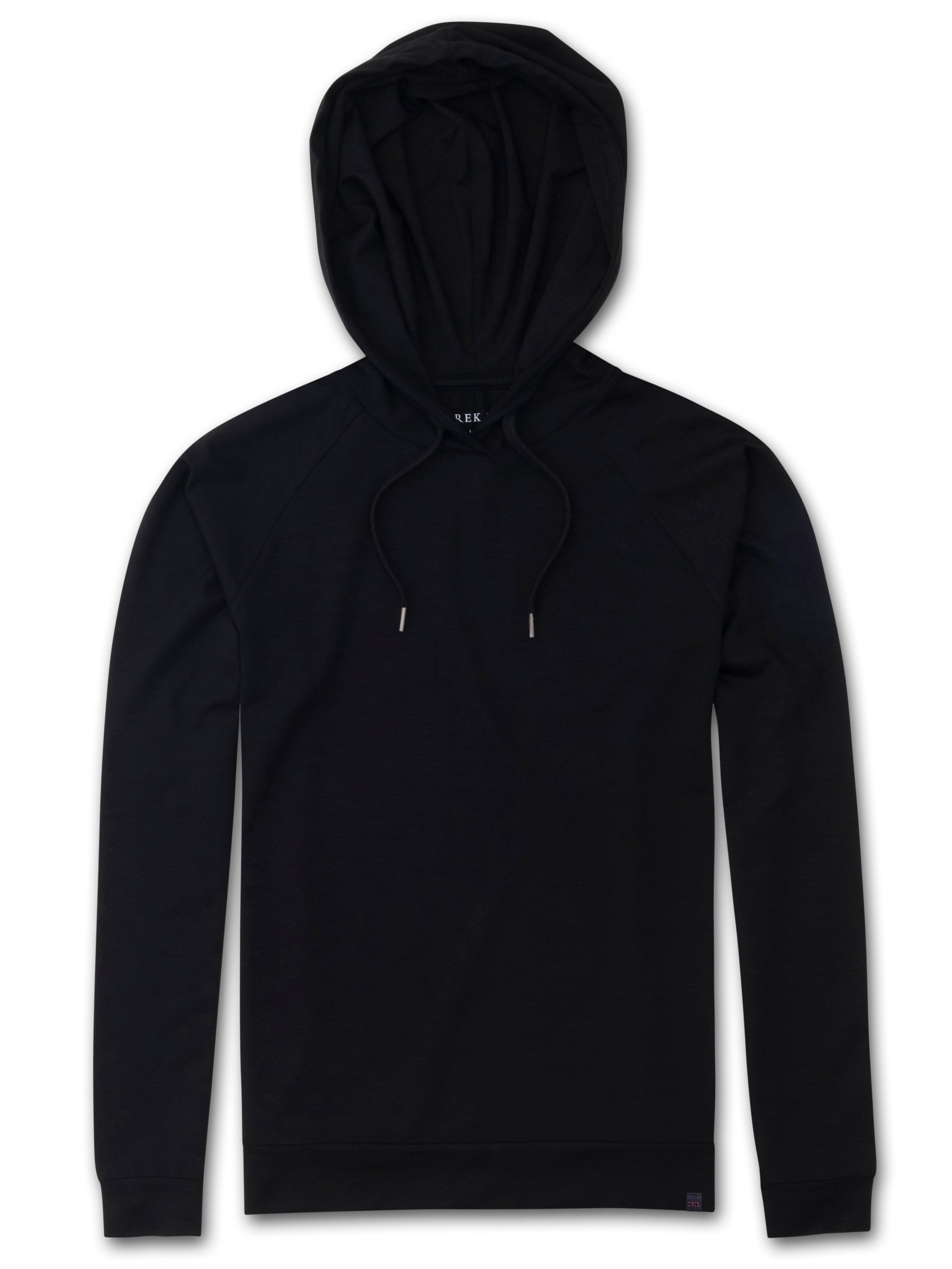 Women's Jersey Pullover Hoodie Basel Micro Modal Stretch Black