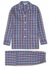 Men's Classic Fit Pyjamas Ranga 35 Brushed Cotton Check Multi