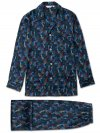 Men's Classic Fit Piped Pyjamas Brindisi 41 Pure Silk Satin Multi