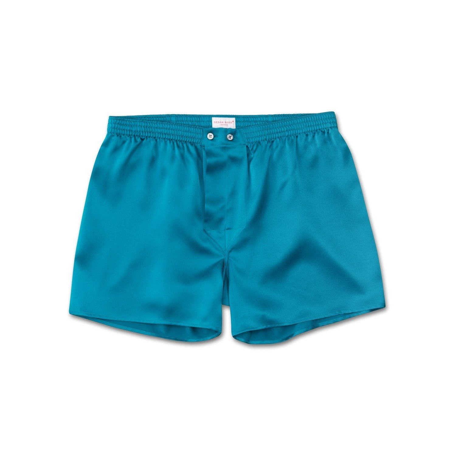 Men's Classic Fit Boxer Shorts Bailey Pure Silk Satin Teal